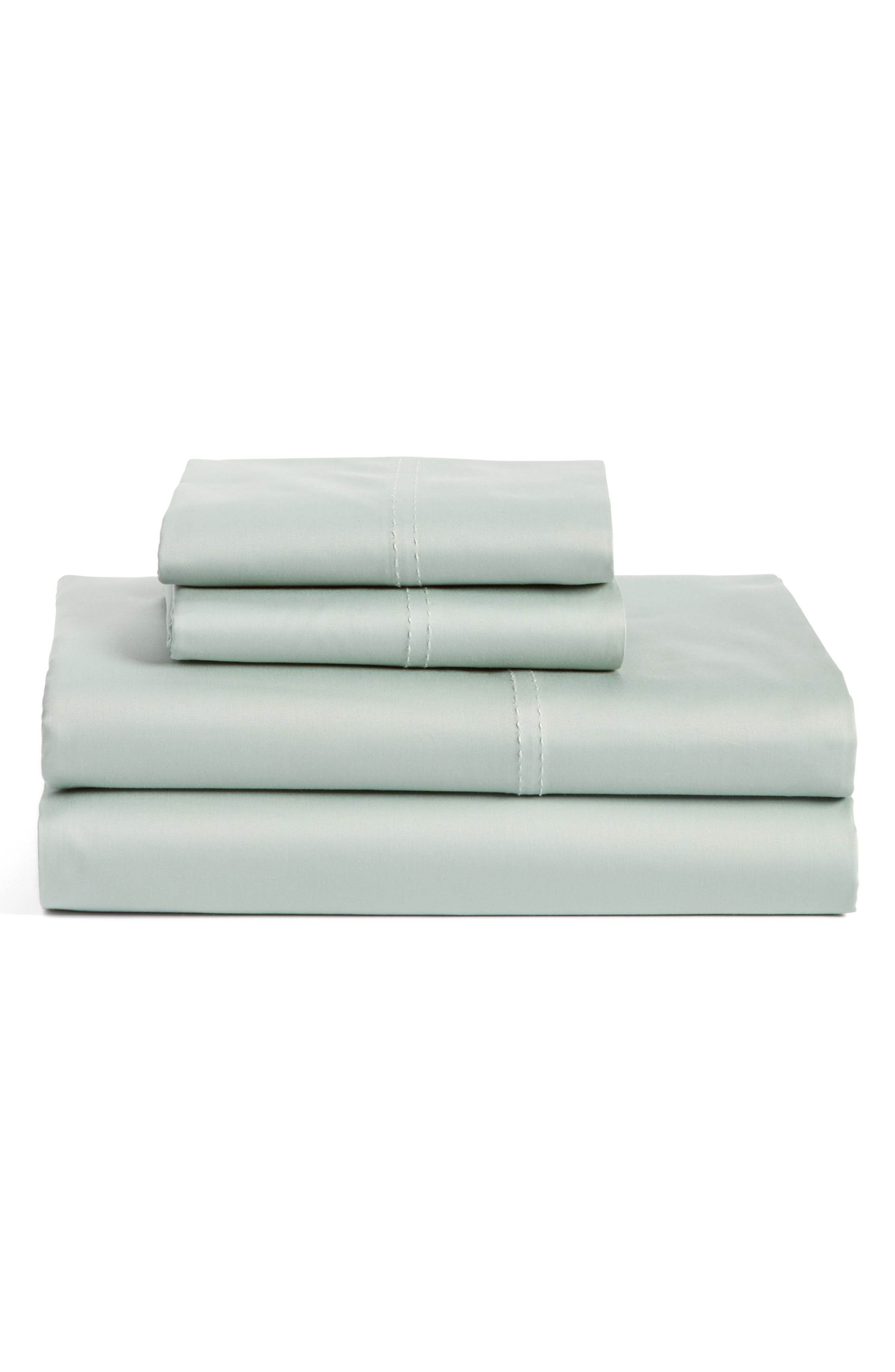 400 Thread Count Organic Cotton Sateen Sheet Set,                             Main thumbnail 12, color,
