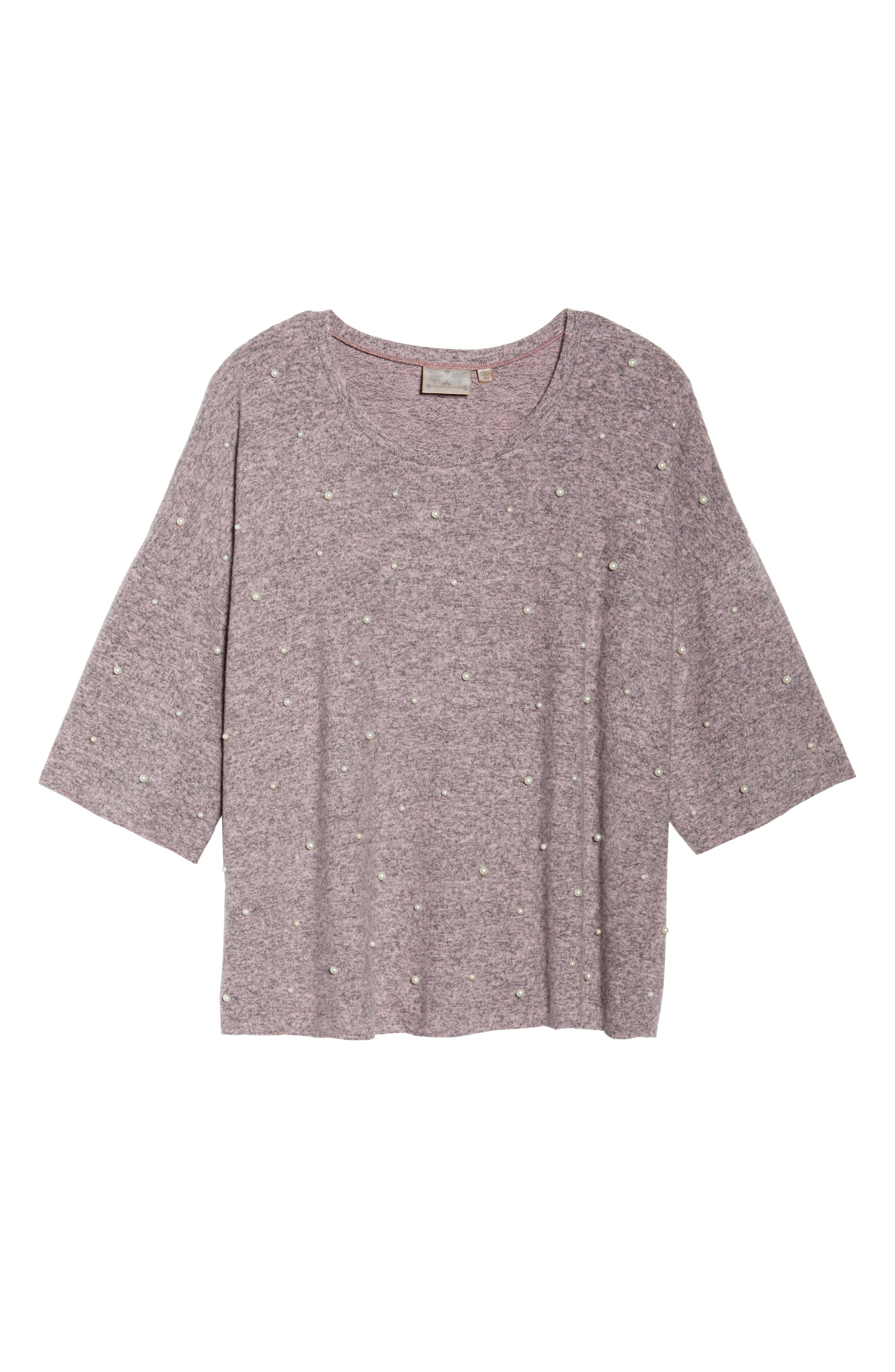 Pearl Embellished Sweater,                             Alternate thumbnail 6, color,                             020