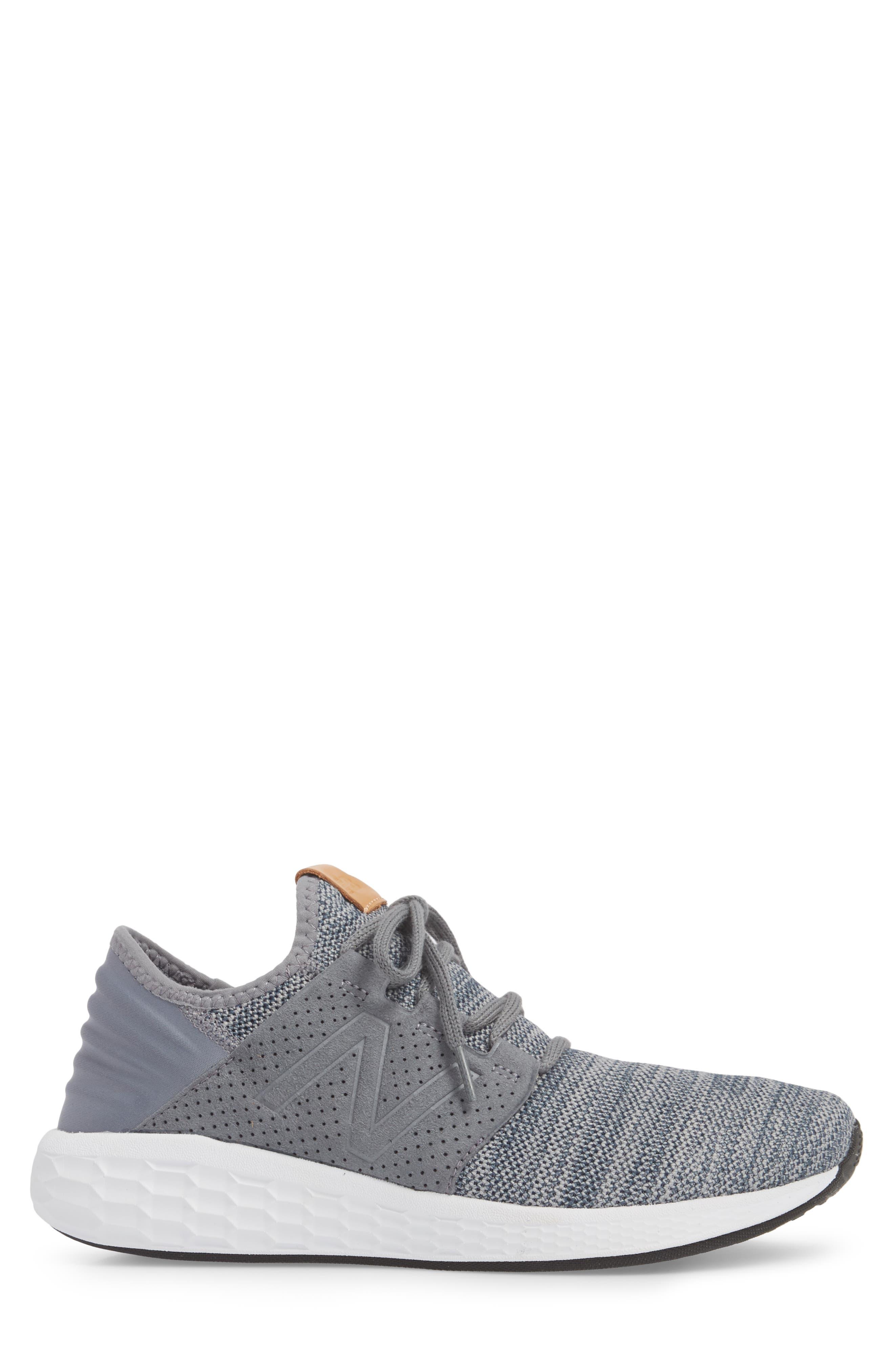 Fresh Foam Cruz v2 Knit Running Shoe,                             Alternate thumbnail 3, color,                             GUNMETAL