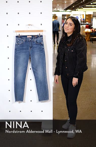 b(air) Roxanne Frayed Ankle Slim Jeans, sales video thumbnail
