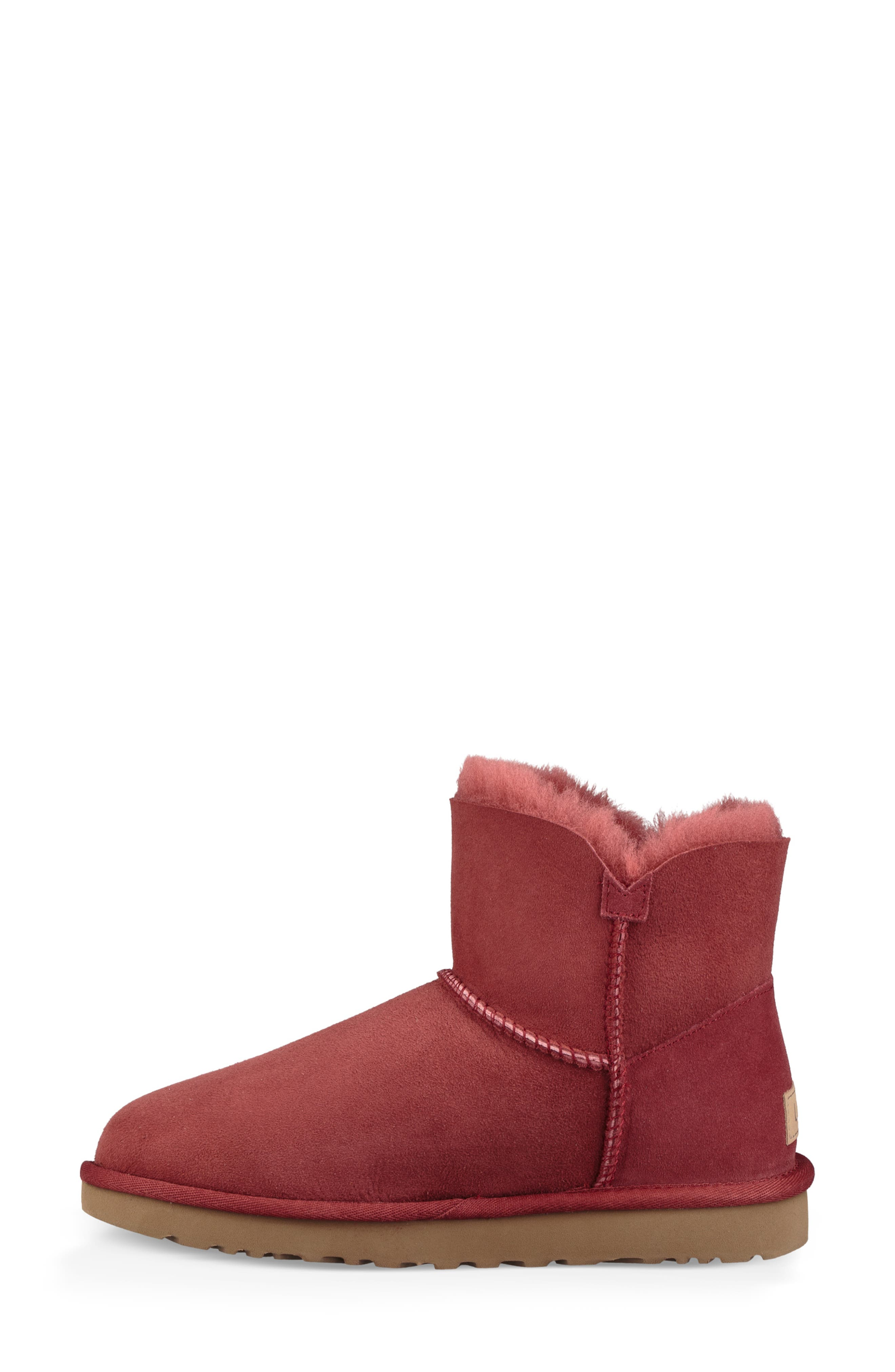 'Mini Bailey Button II' Boot,                             Alternate thumbnail 6, color,                             REDWOOD SUEDE