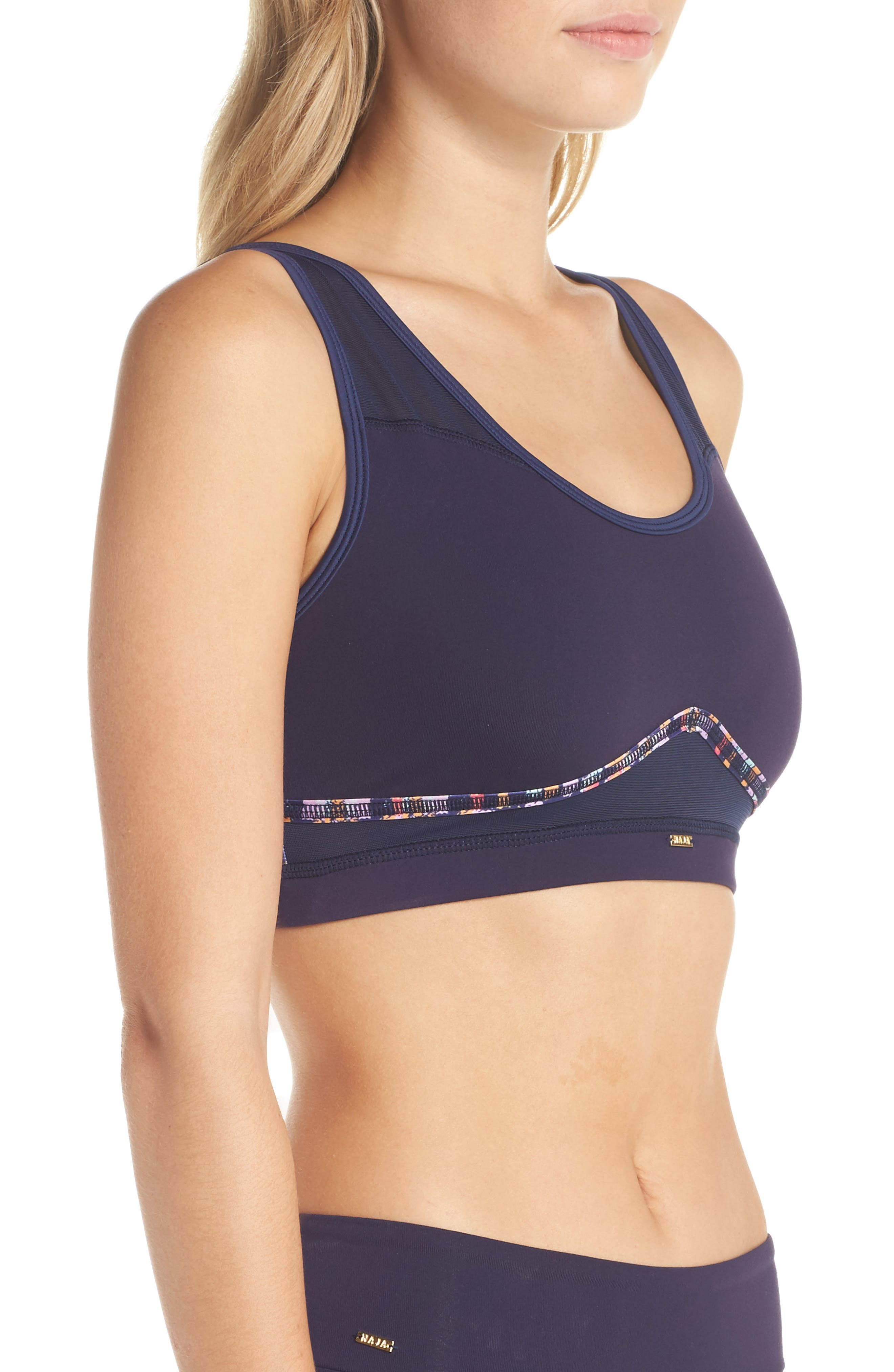 Nina Mesh Sports Bra,                             Alternate thumbnail 6, color,