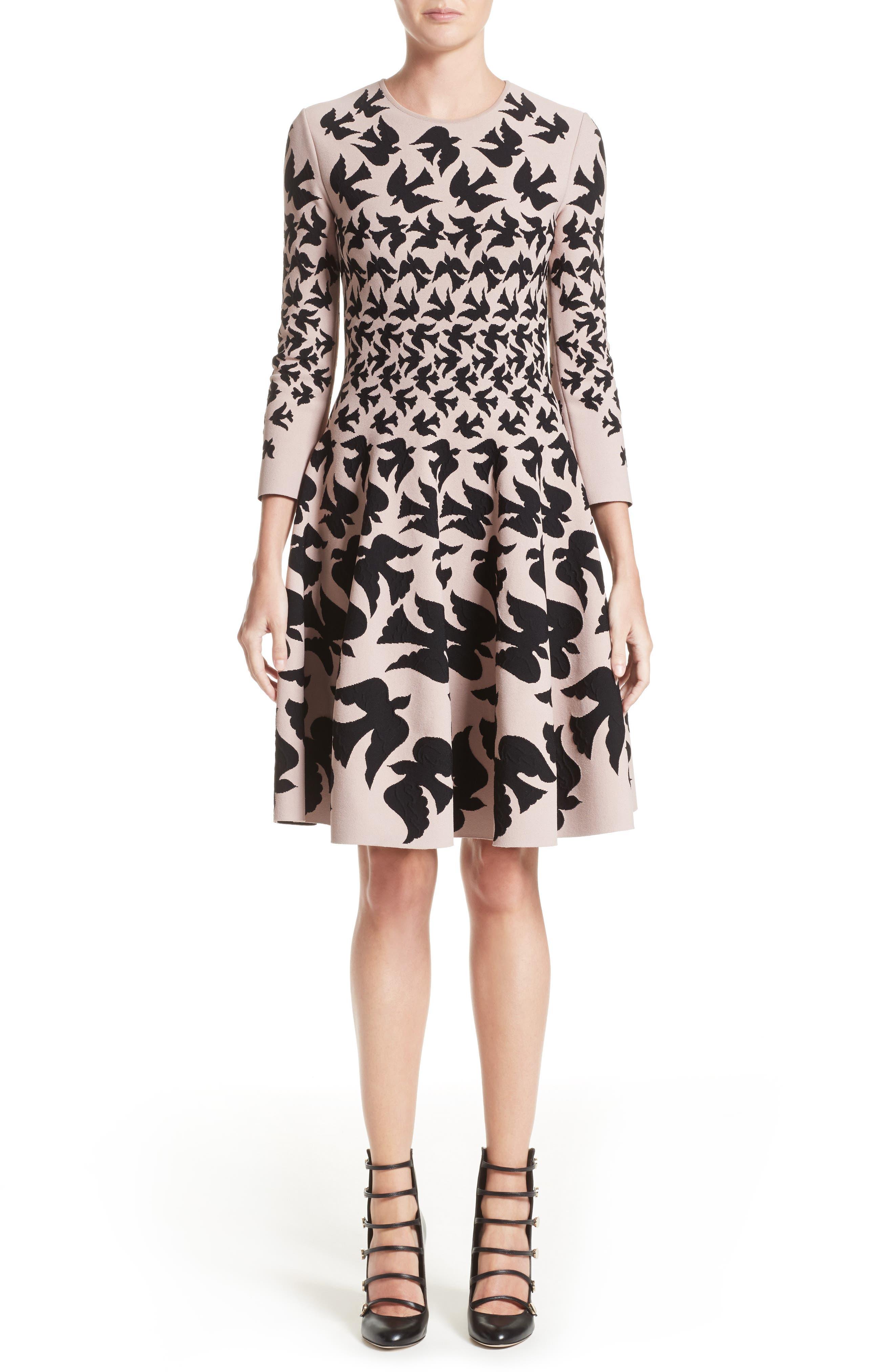 Swallow Jacquard Dress,                             Main thumbnail 1, color,                             655
