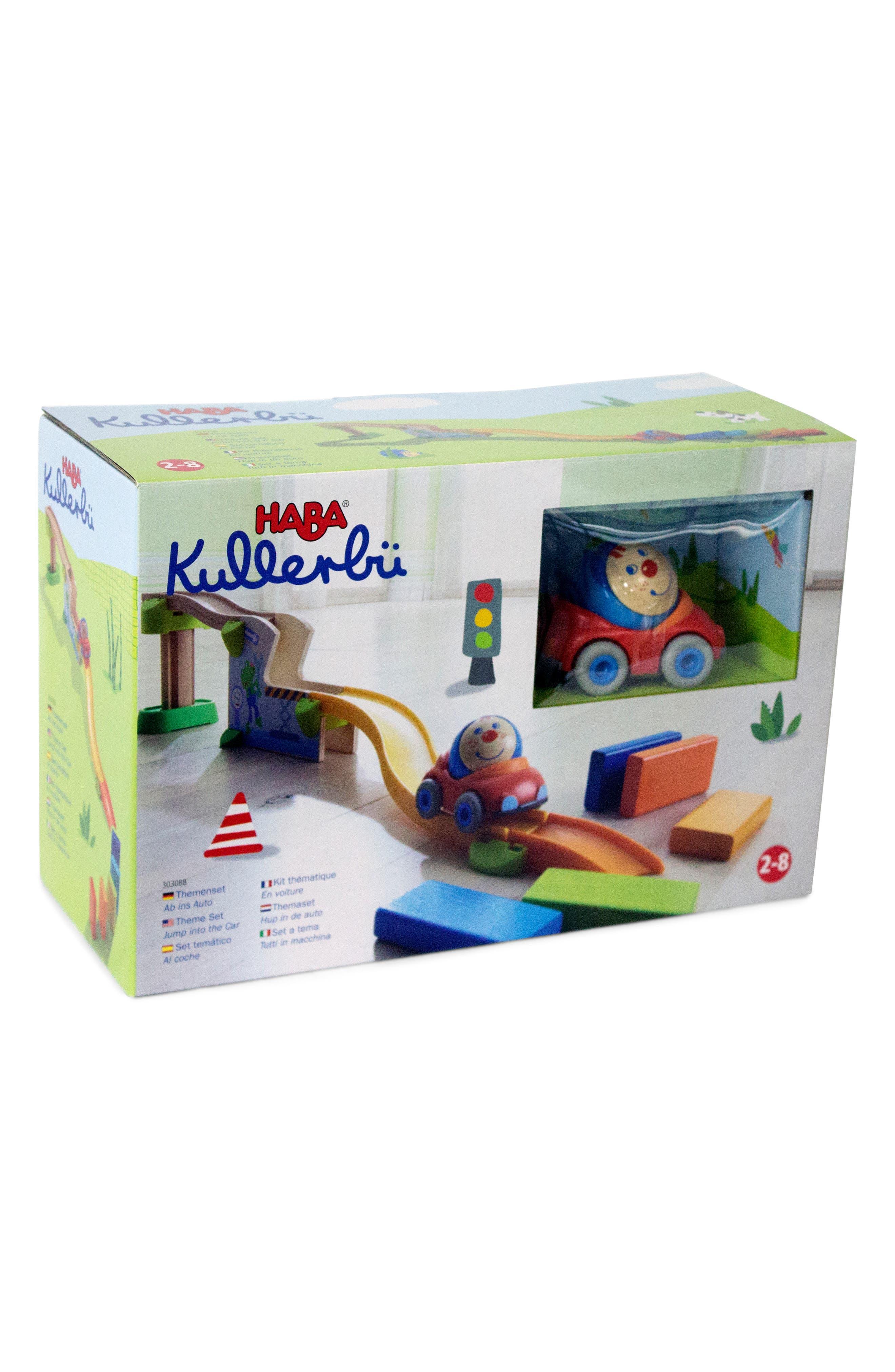 Toddler Haba Kullerbu Jump Into Car Domino Set