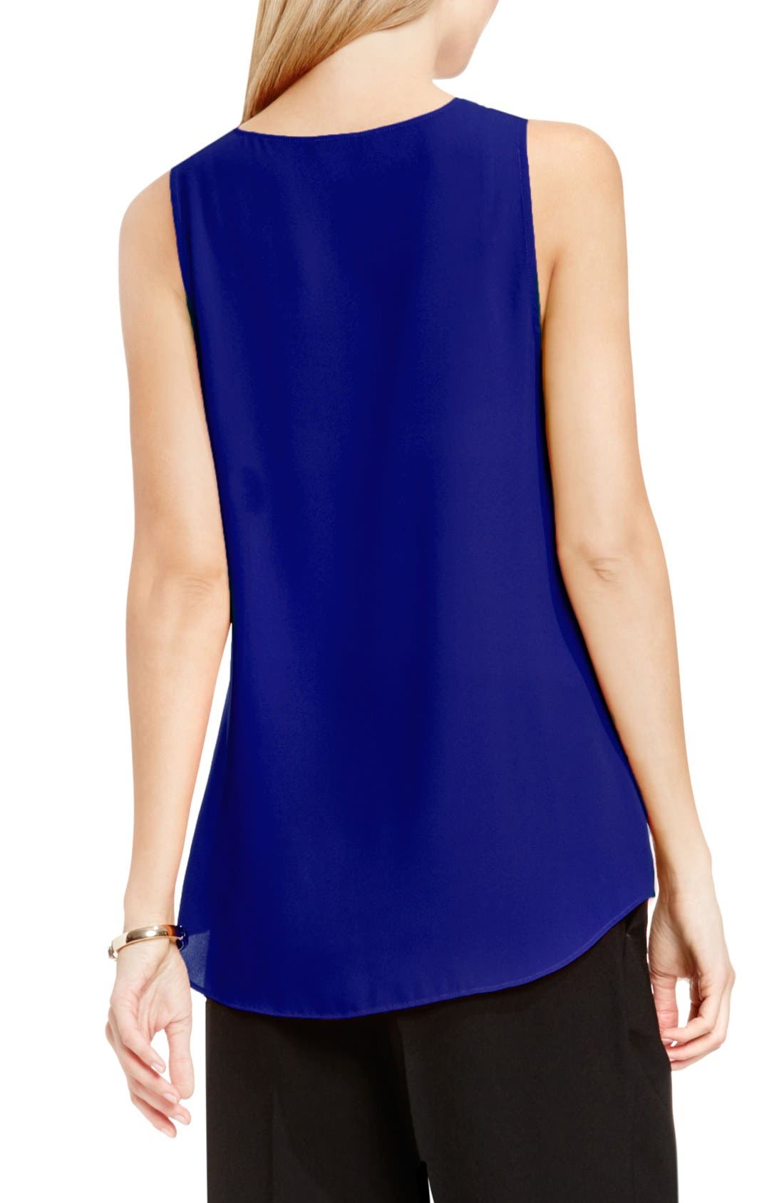 Drape Front V-Neck Sleeveless Blouse,                             Alternate thumbnail 49, color,