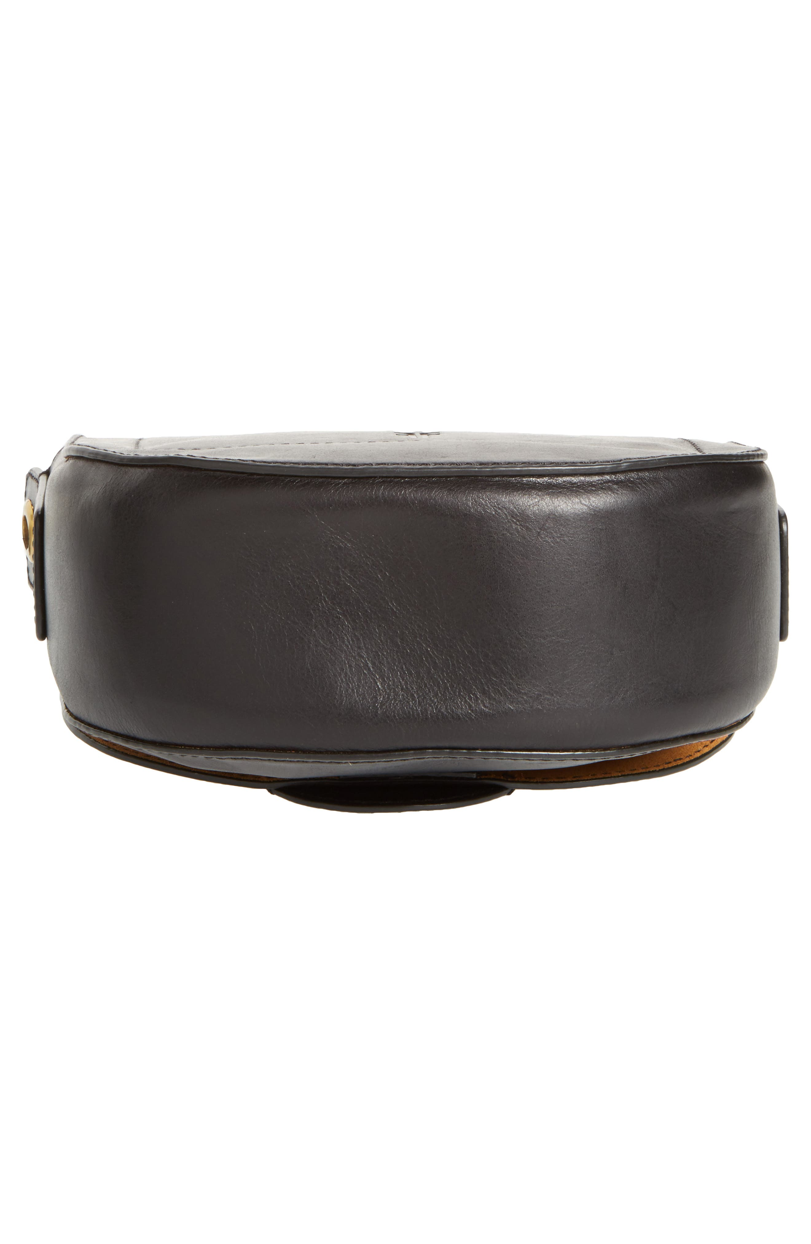 Small Ilana Harness Leather Saddle Bag,                             Alternate thumbnail 6, color,                             001