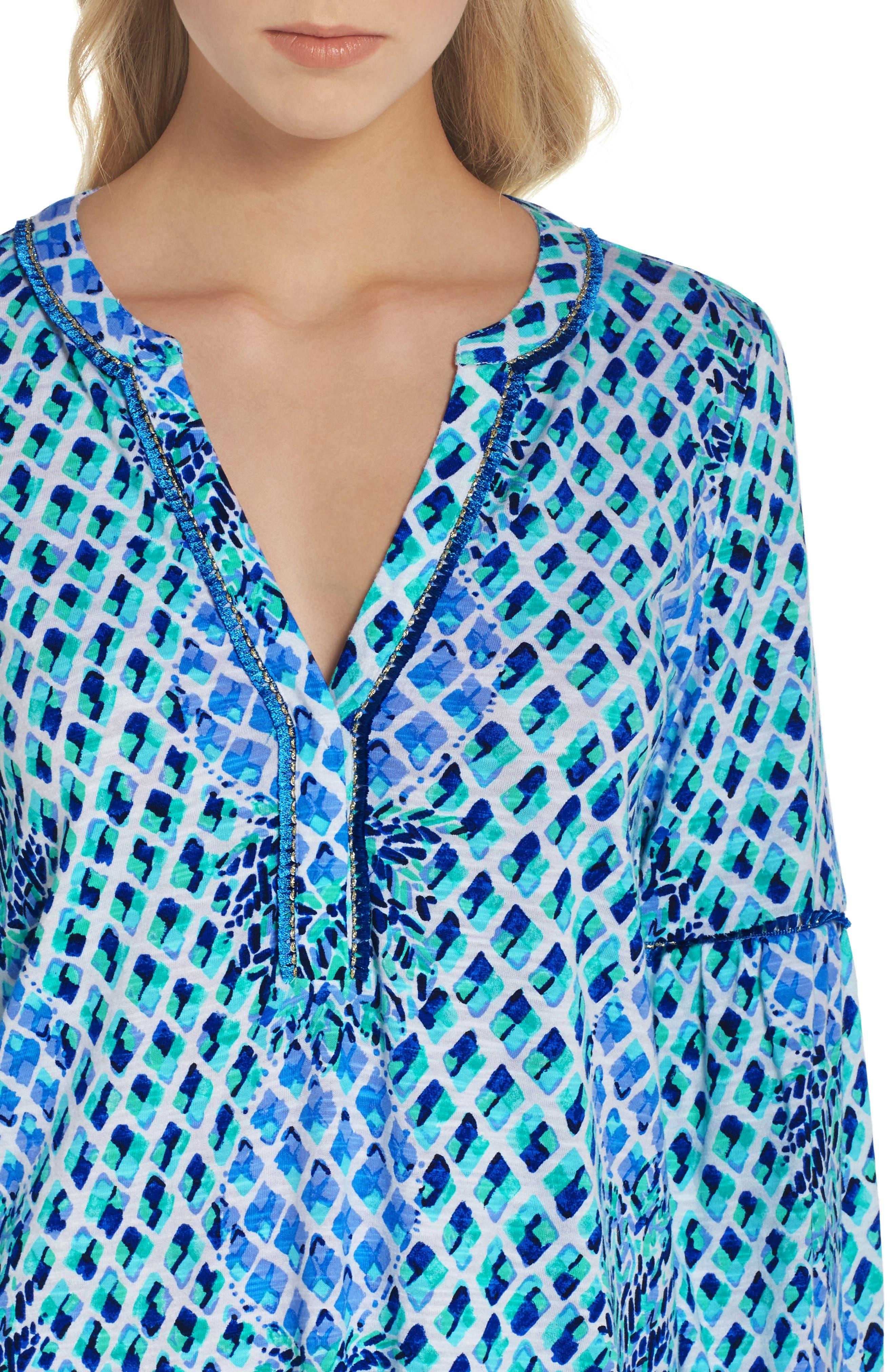 Joy Tunic Dress,                             Alternate thumbnail 4, color,                             400