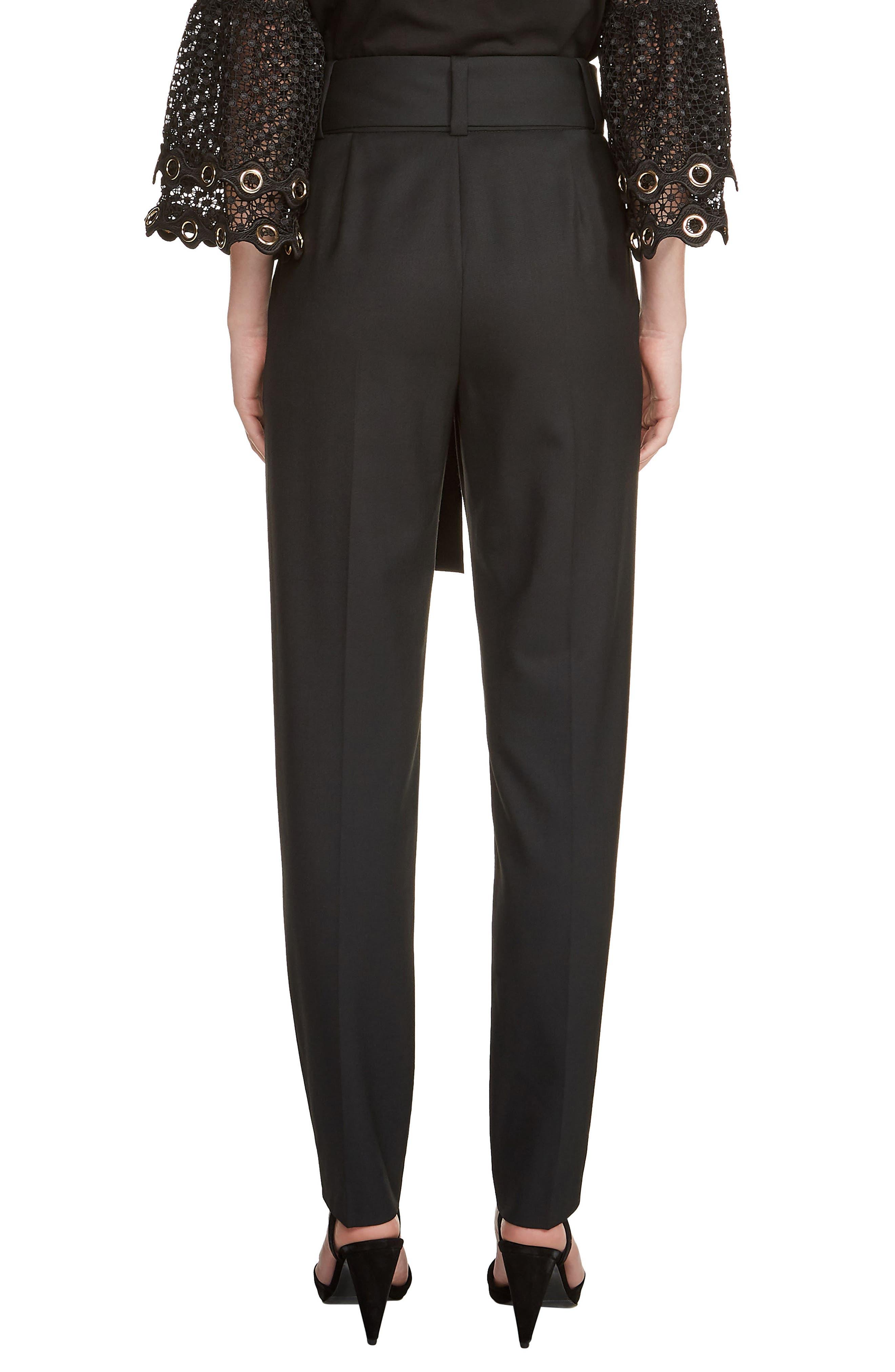 Paris Belted Pleat Front Pants,                             Alternate thumbnail 2, color,                             001