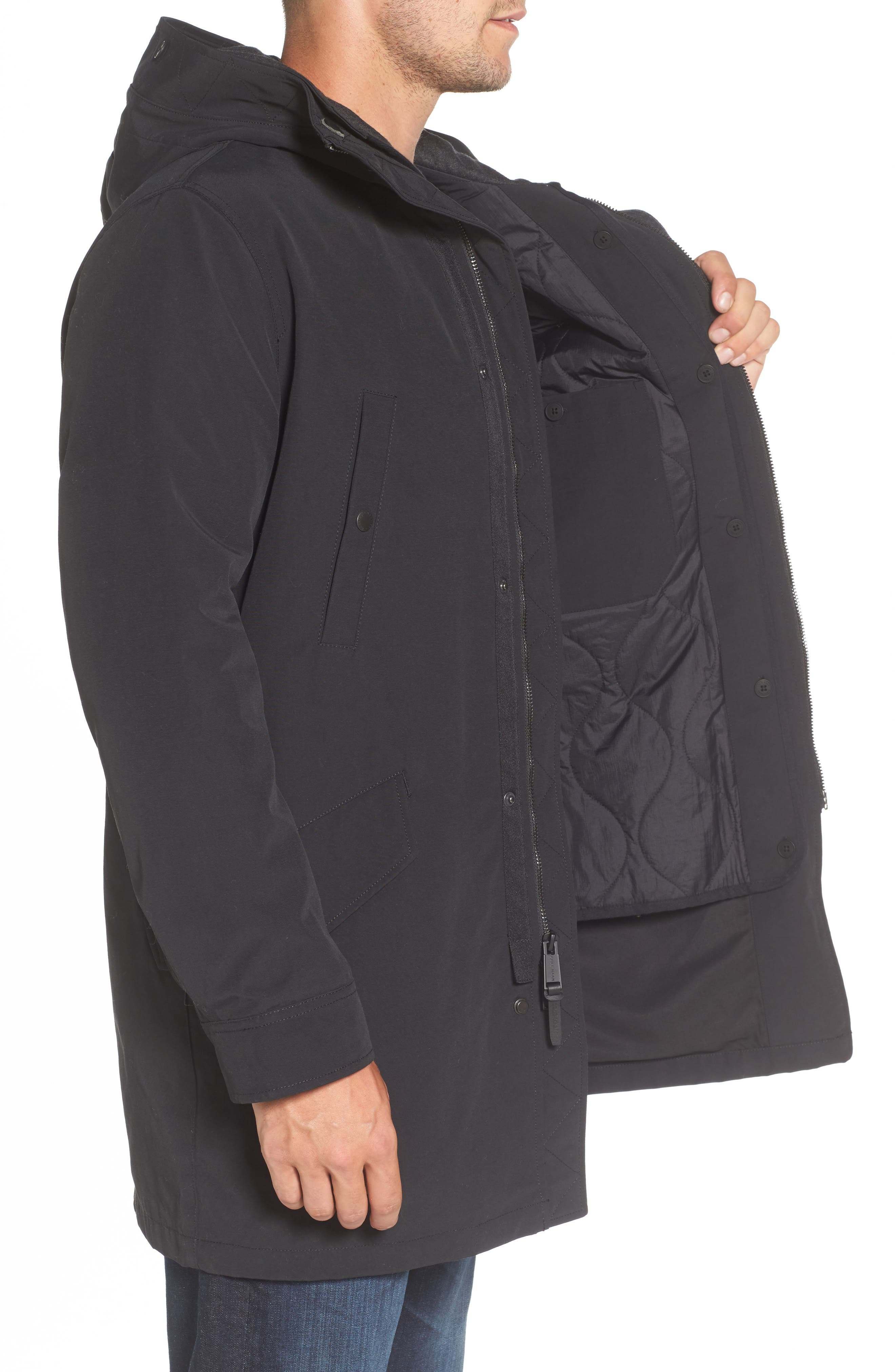 Water Repellent 3-in-1 Utility Jacket,                             Alternate thumbnail 3, color,                             001
