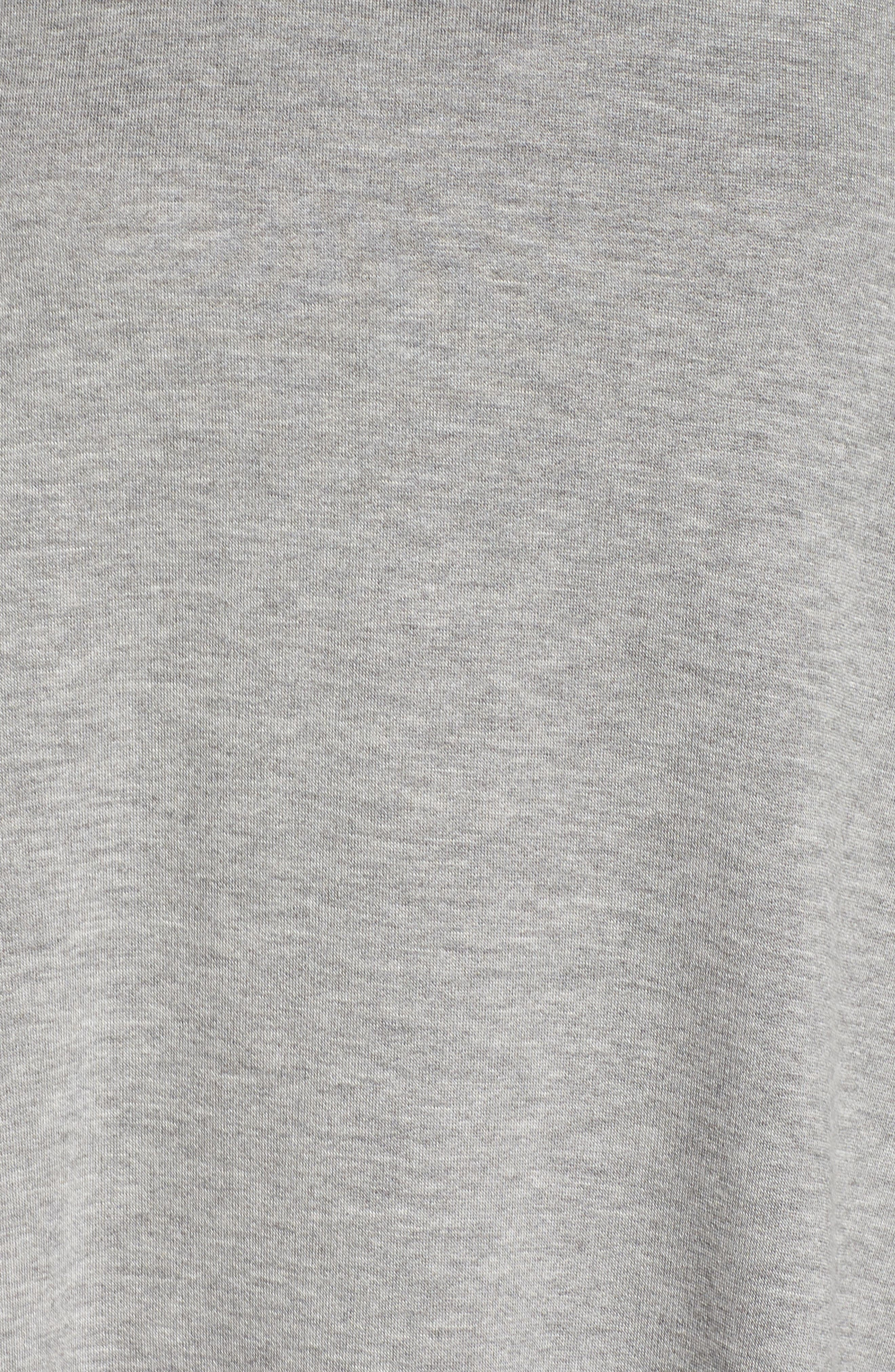 Heron Mesh Back Sweatshirt,                             Alternate thumbnail 6, color,                             HEATHER GREY