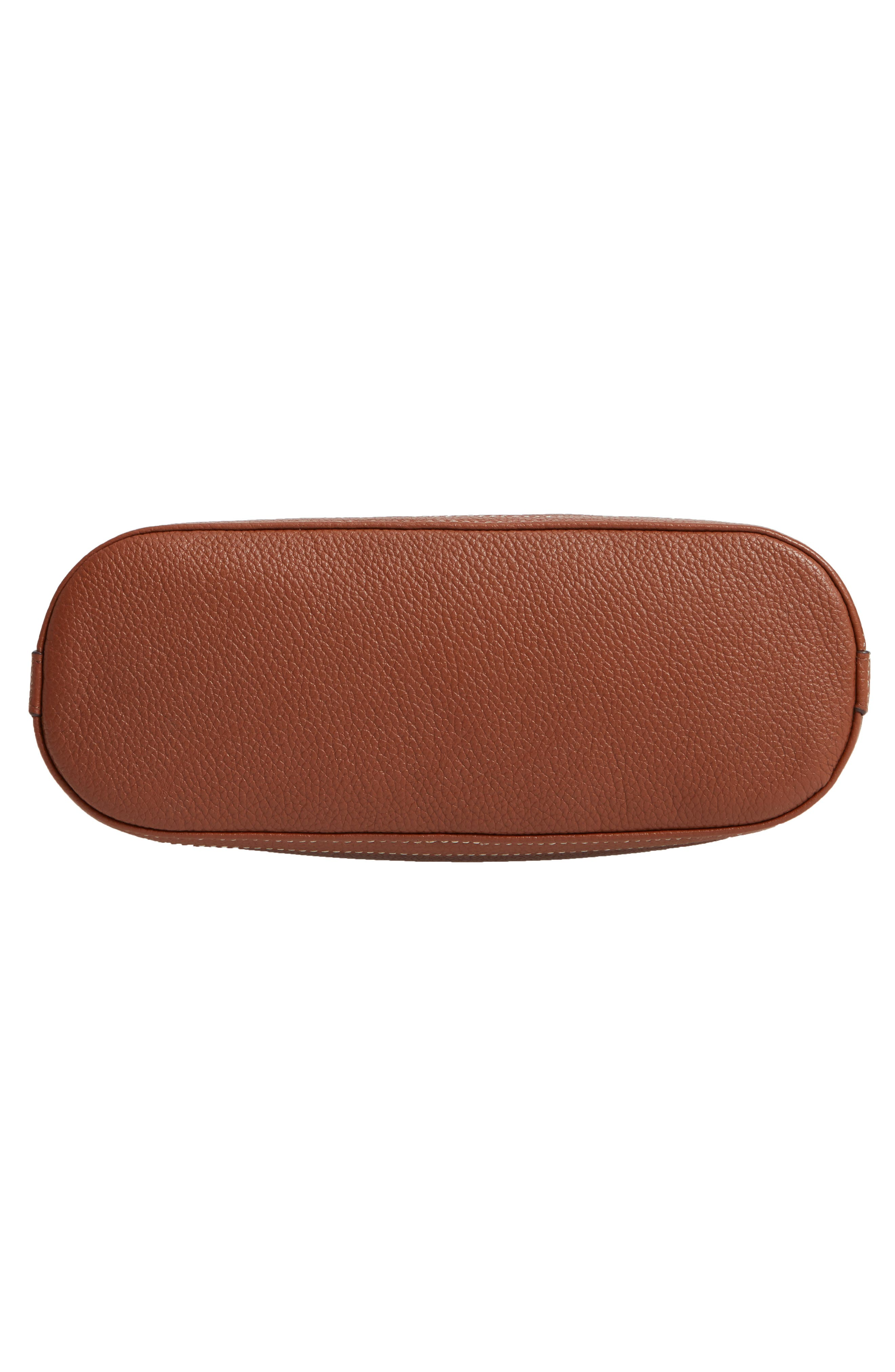NORDSTROM,                             Maribel Leather Crossbody Bag,                             Alternate thumbnail 6, color,                             BROWN AZTEC