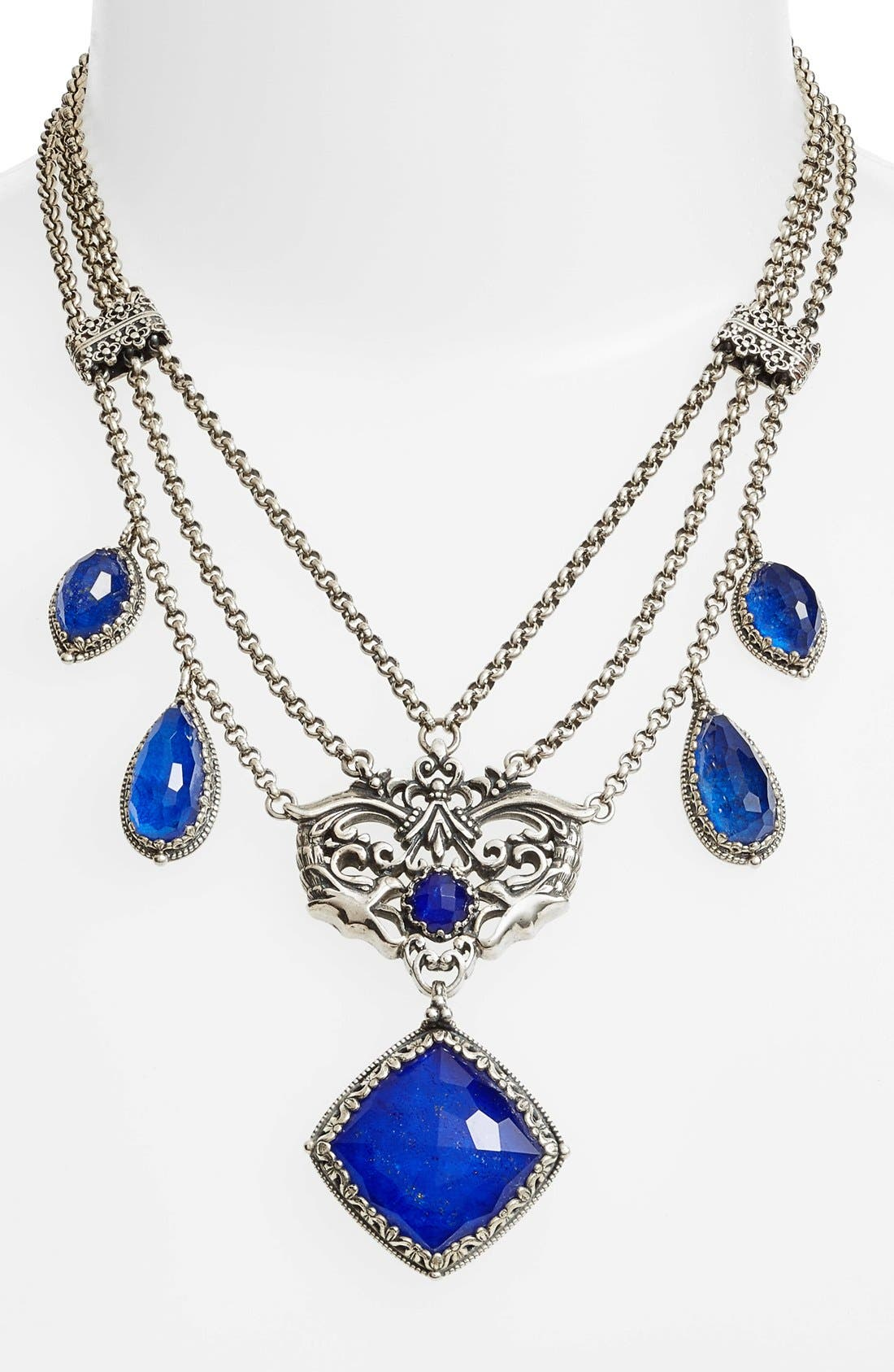 Andromeda Lapis Frontal Necklace,                             Alternate thumbnail 3, color,                             040