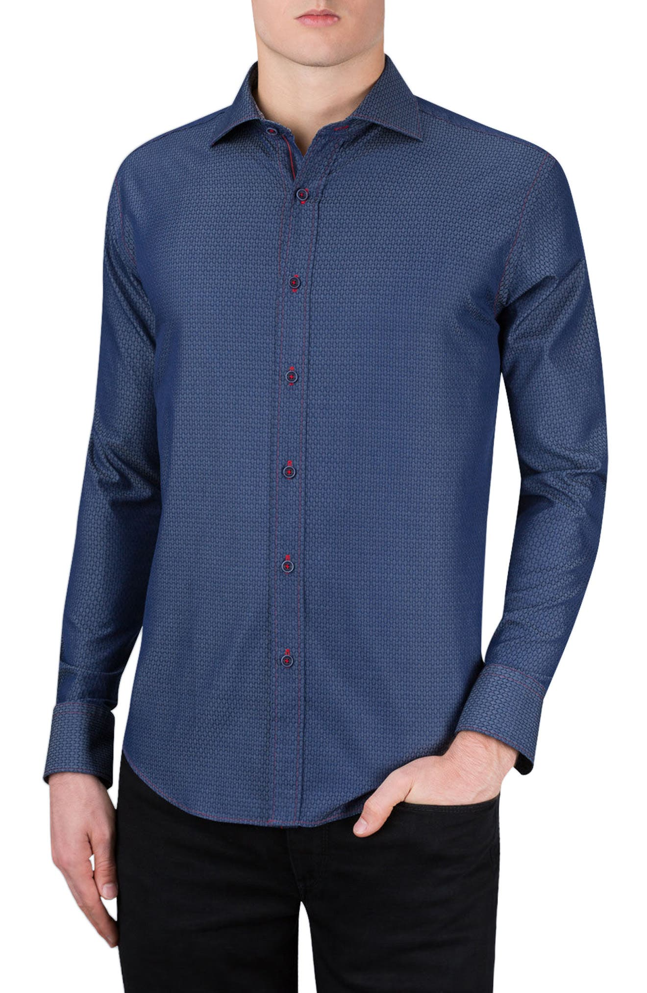 Shaped Fit Sport Shirt,                         Main,                         color, 411