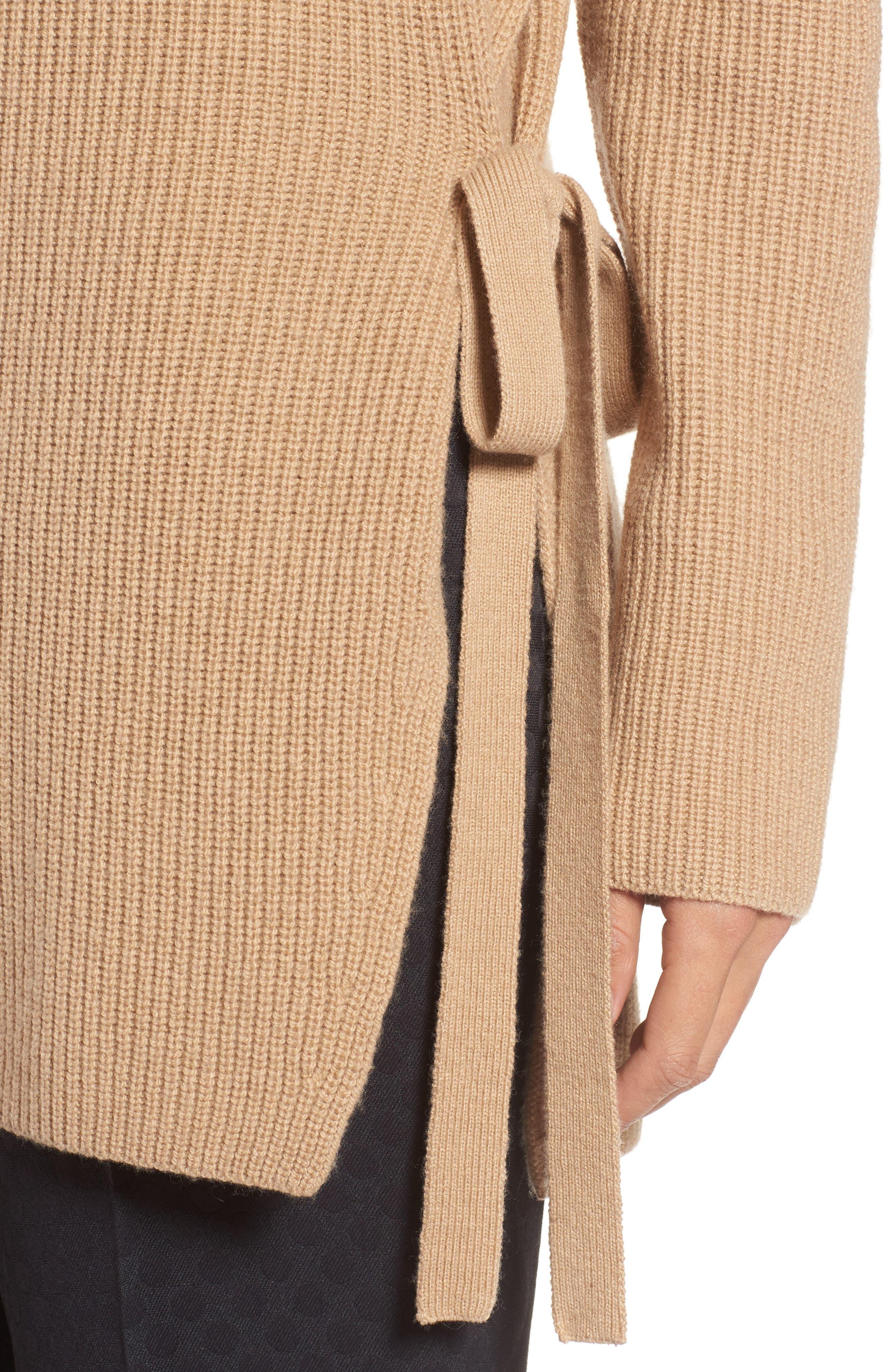 Filda Tie Side Sweater,                             Alternate thumbnail 4, color,
