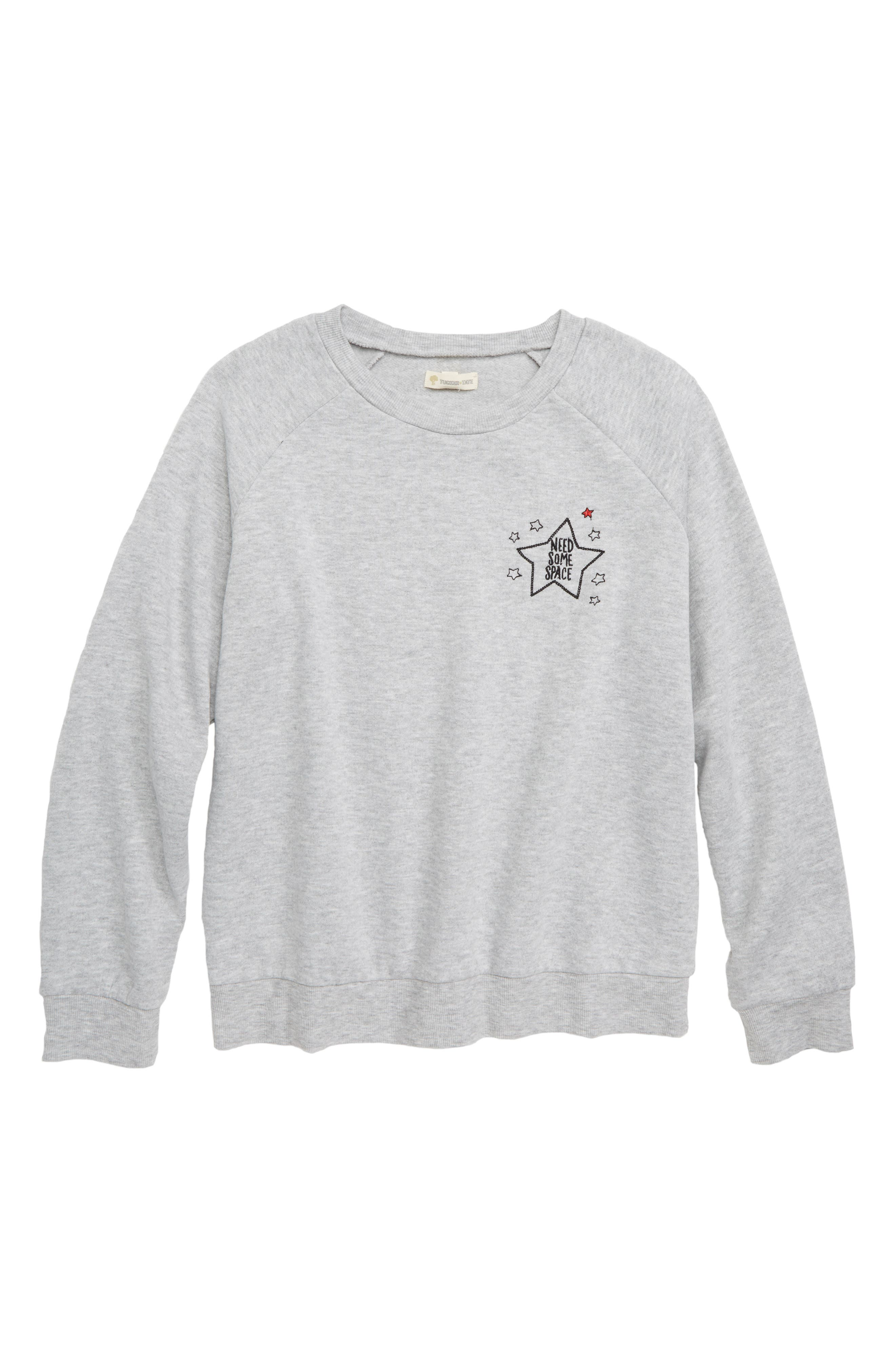 Need Some Space Embroidered Sweatshirt,                         Main,                         color, 050