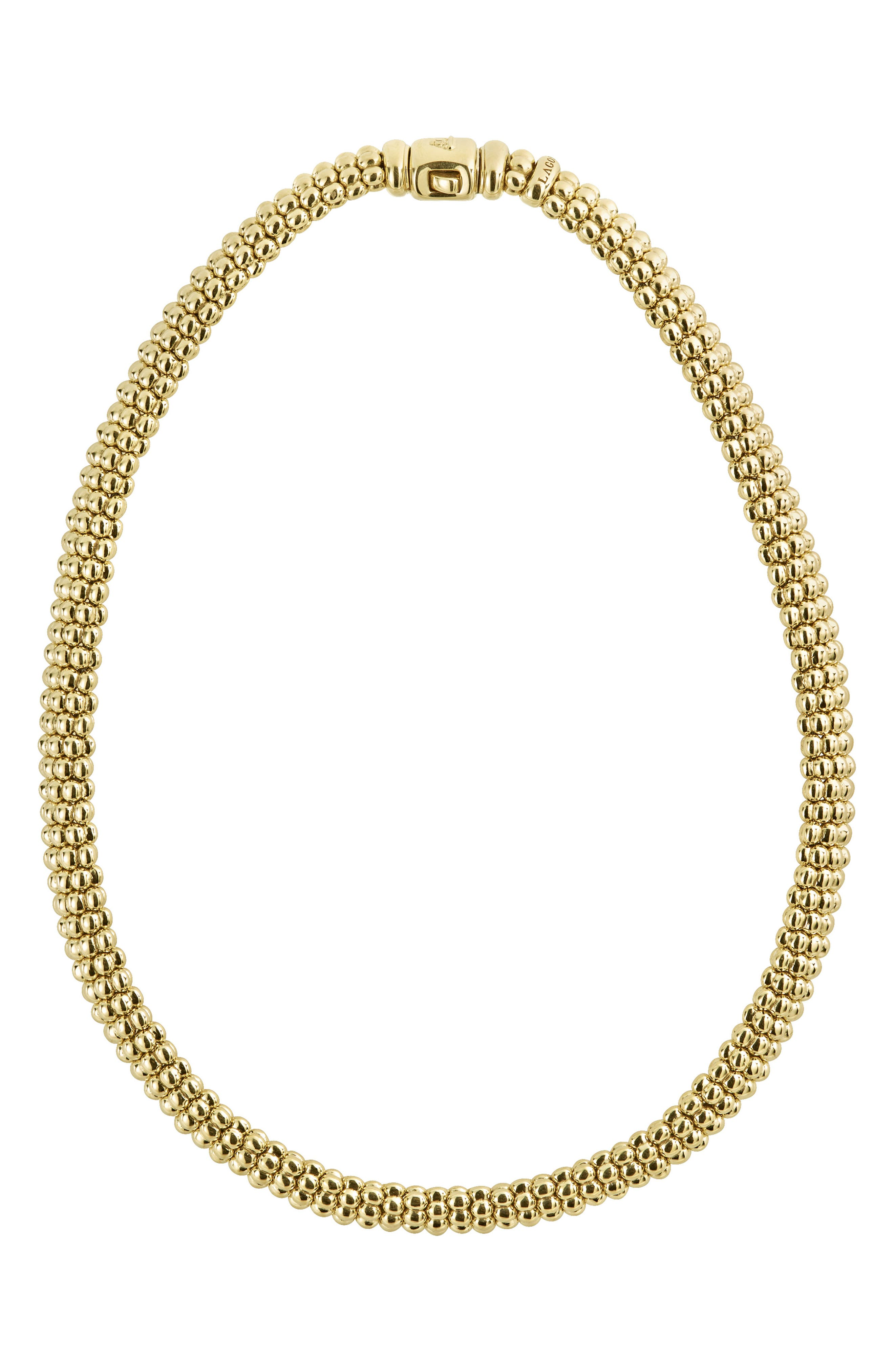 Caviar Gold Rope Necklace,                         Main,                         color, GOLD