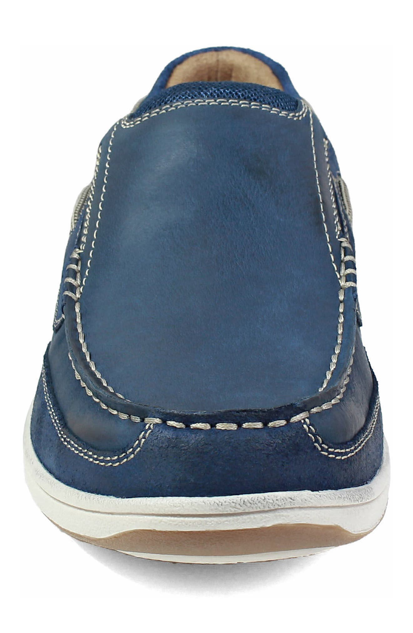 'Lakeside' Slip-On,                             Alternate thumbnail 4, color,                             INDIGO SUEDE