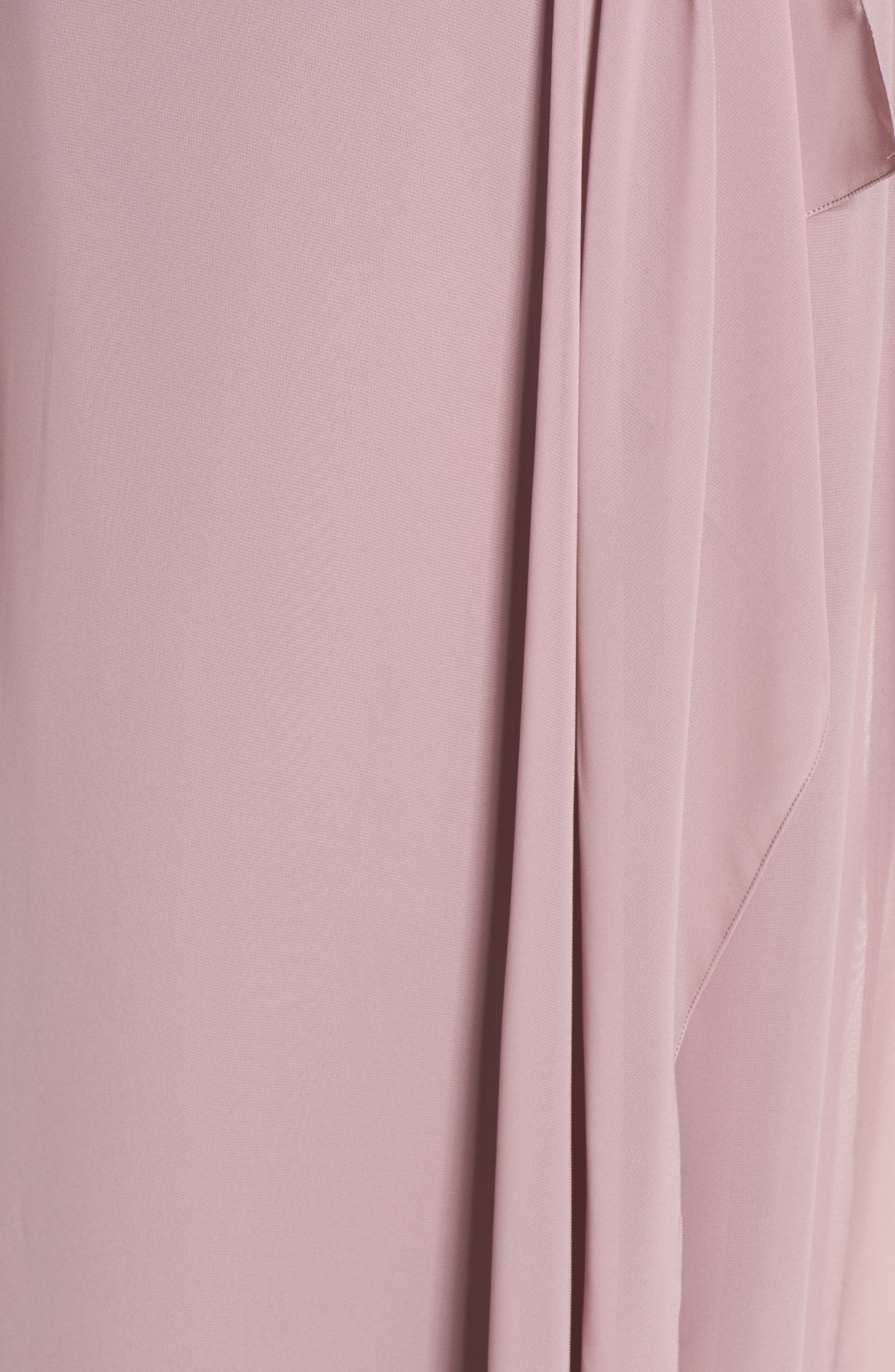 'Drew' Ruffle Front Chiffon Gown,                             Alternate thumbnail 49, color,
