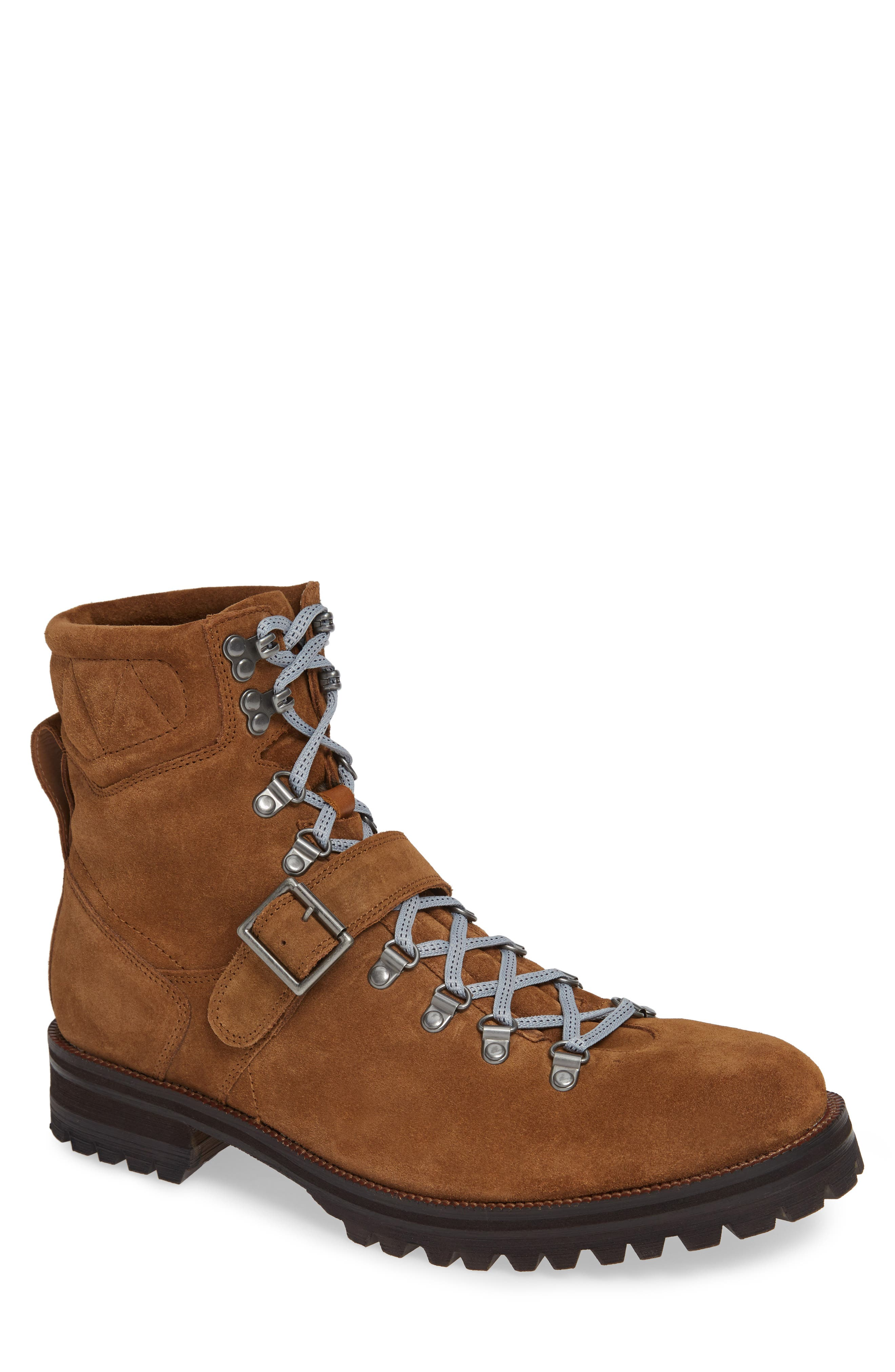 MICHAEL BASTIAN Storm Lug Hiker Boot in Tan Suede