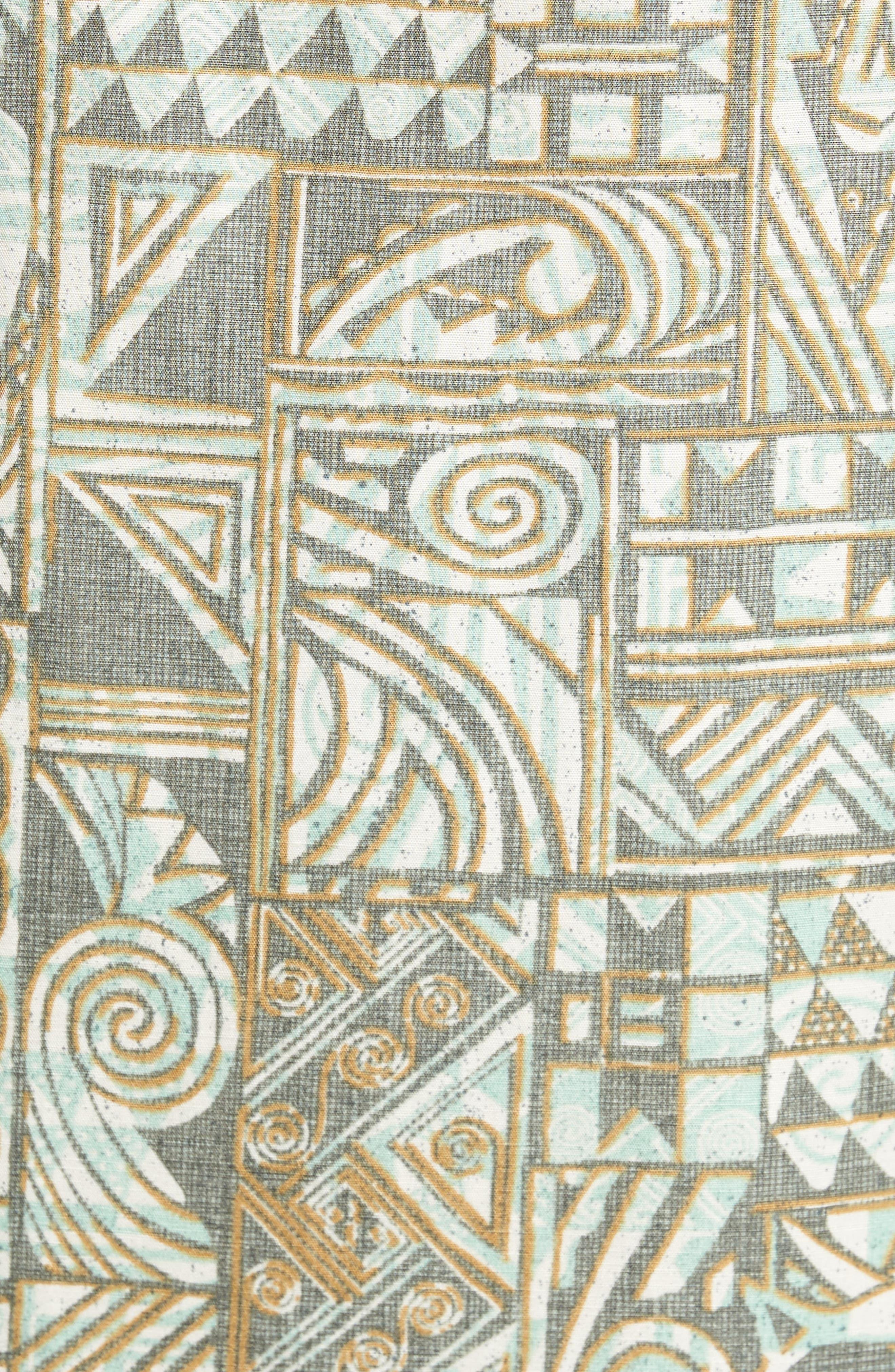 Ehukai Classic Fit Print Sport Shirt,                             Alternate thumbnail 5, color,                             020