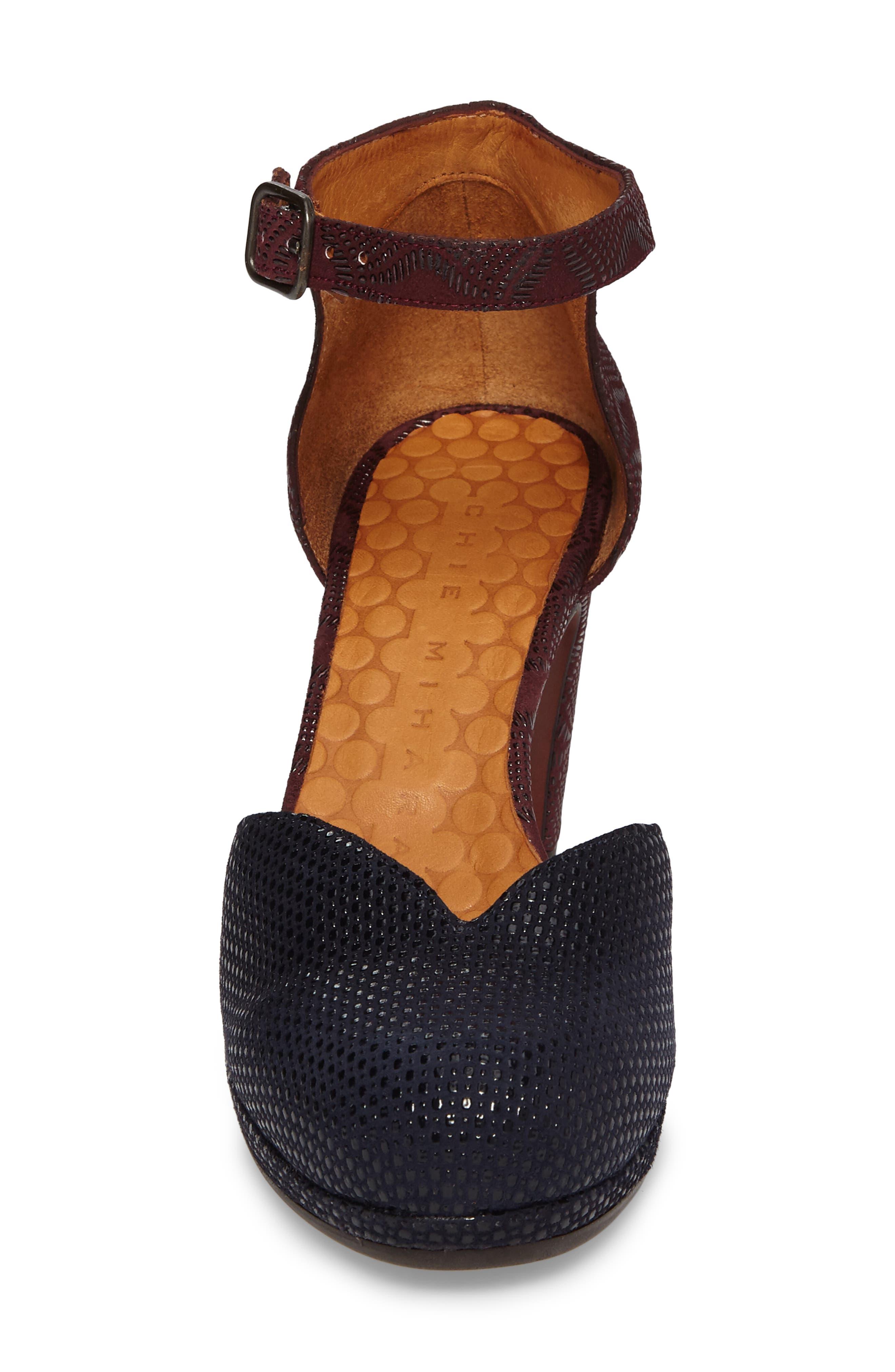 Maho d'Orsay Ankle Strap Pump,                             Alternate thumbnail 4, color,                             400