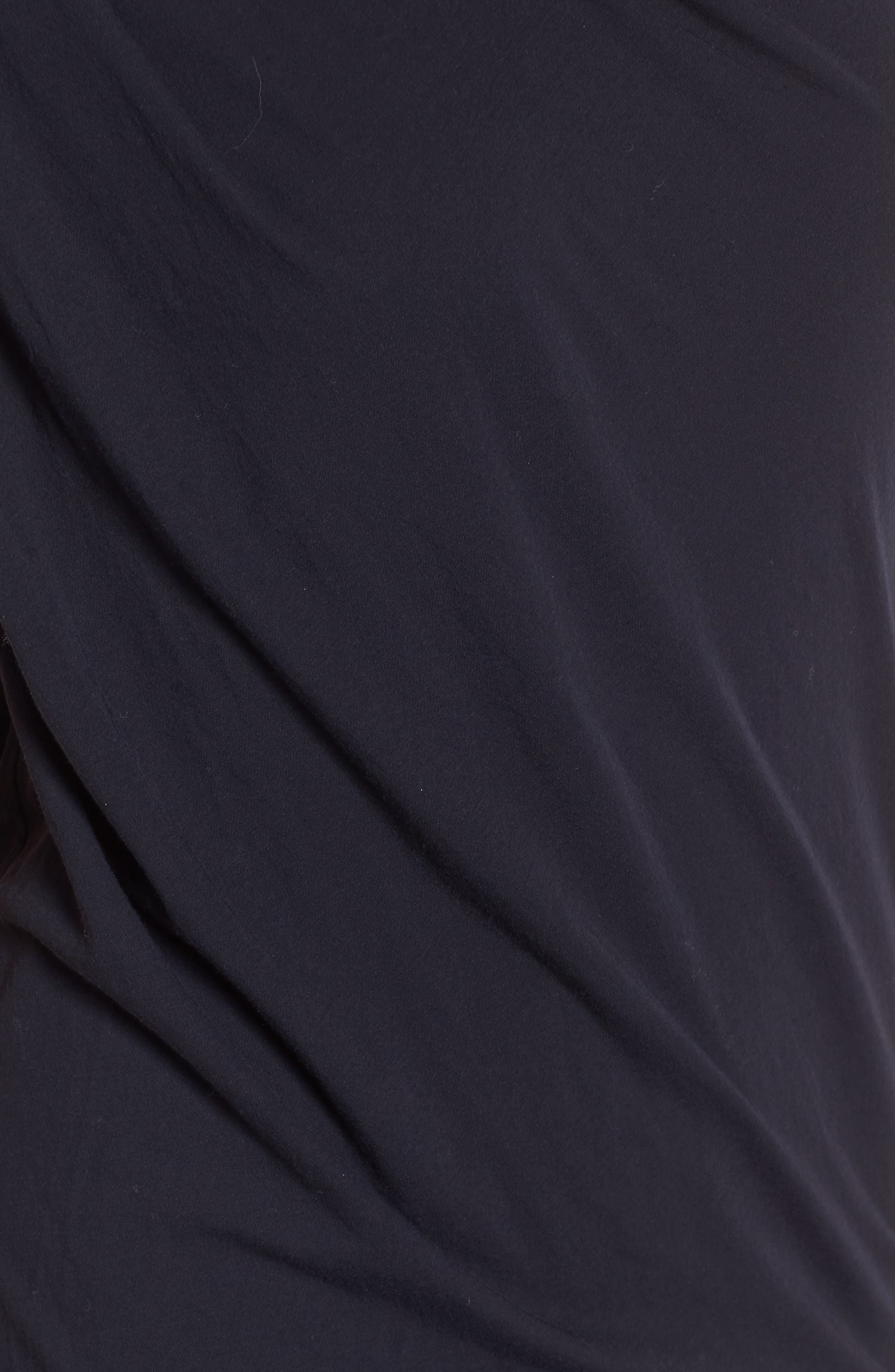 Draped One-Shoulder Midi Dress,                             Alternate thumbnail 15, color,