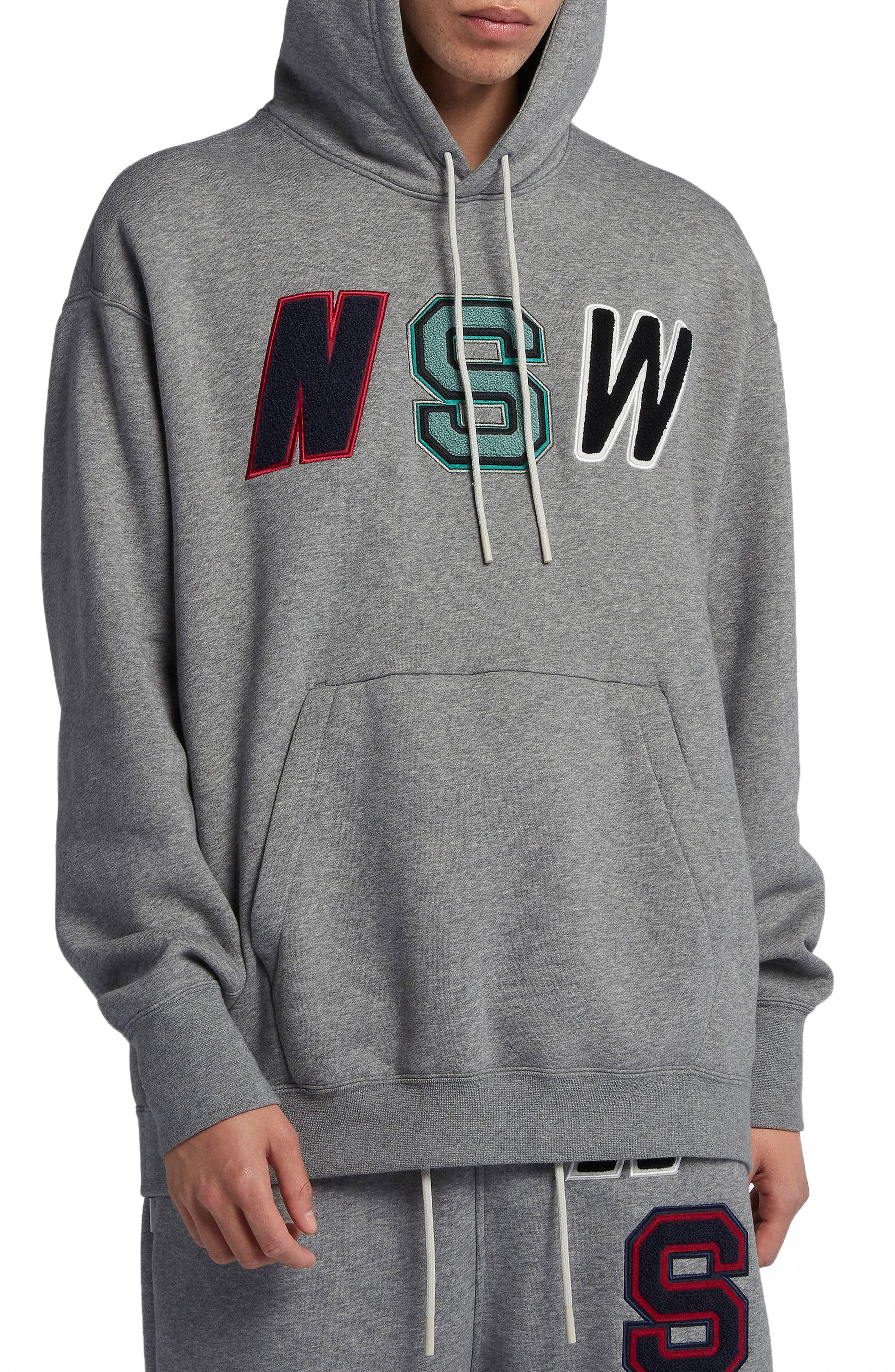 NSW Hoodie,                         Main,                         color, CARBON HEATHER