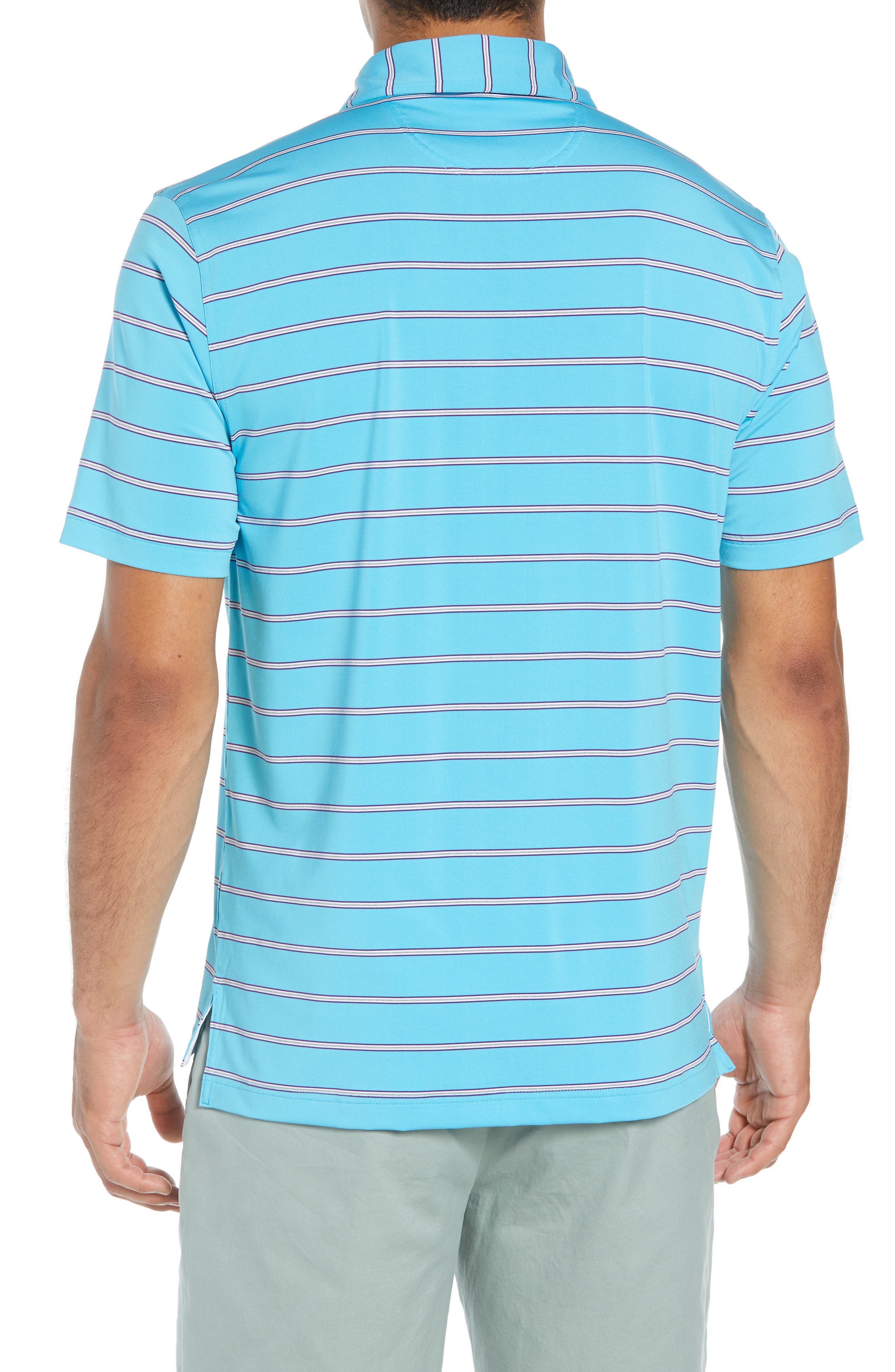 Ferry Stripe Classic Fit Golf Polo,                             Alternate thumbnail 2, color,                             BLUE