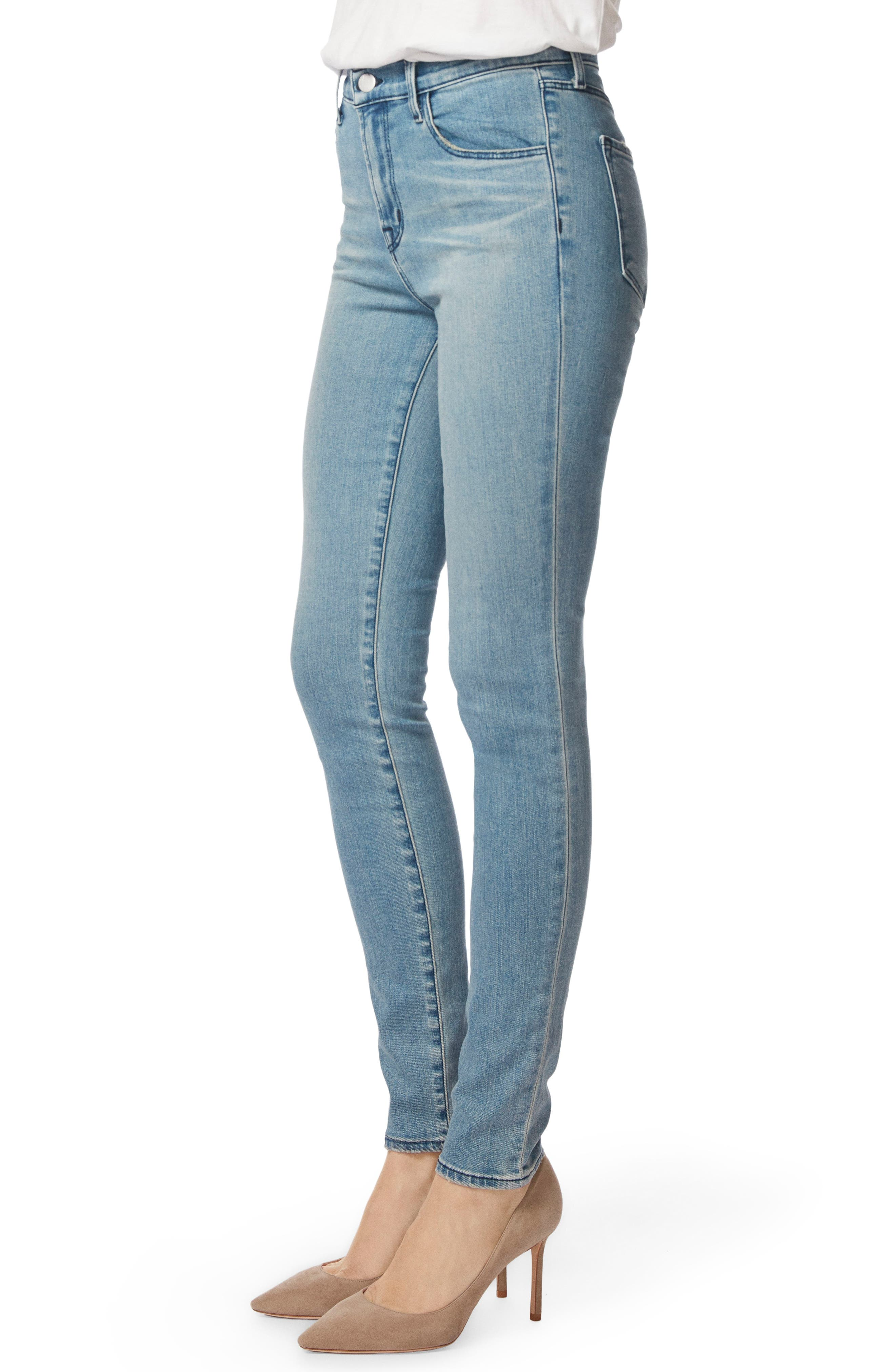 Maria High Waist Skinny Jeans,                             Alternate thumbnail 3, color,                             407