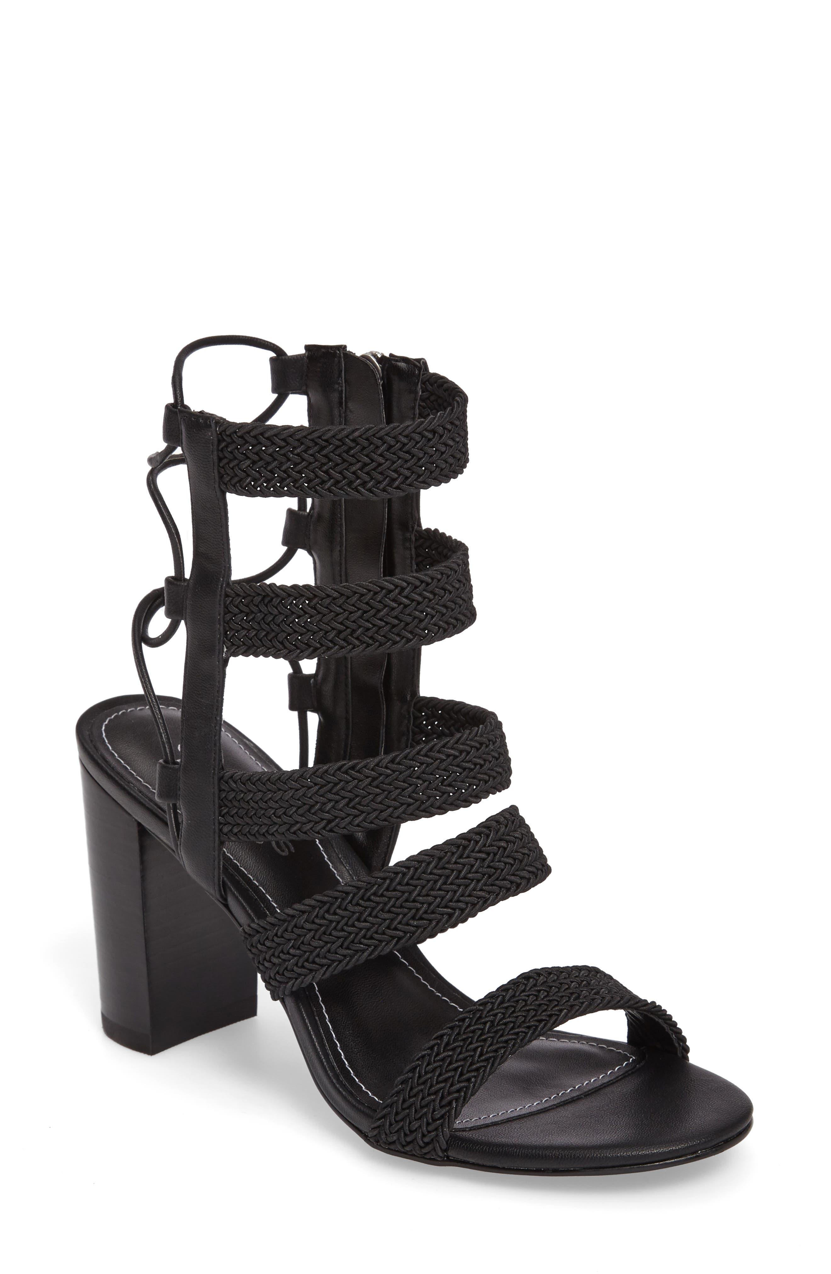 Ella Block Heel Sandal,                         Main,                         color, 001
