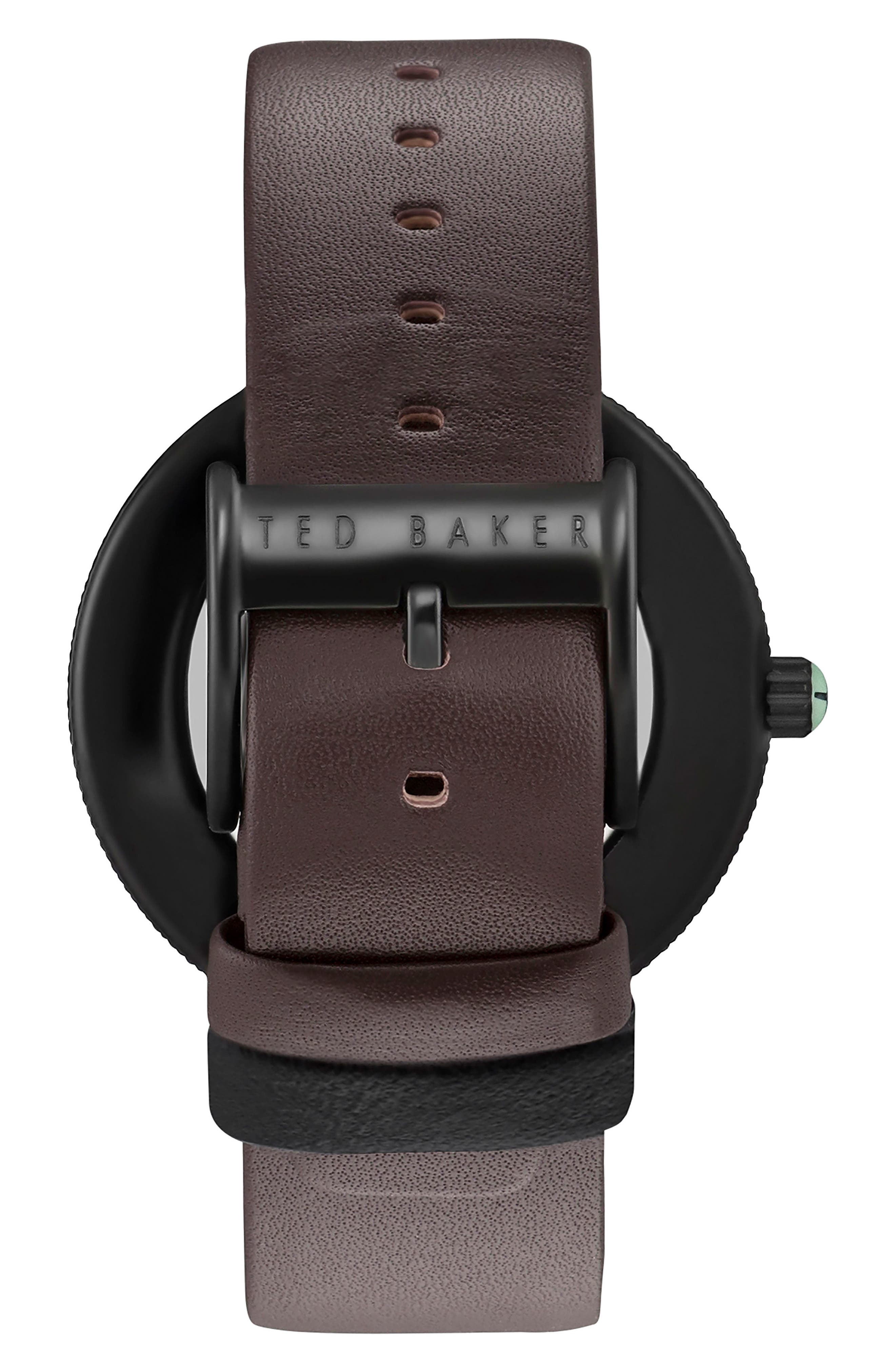 Jack Multifunction Leather Strap Watch, 40mm,                             Alternate thumbnail 2, color,                             200