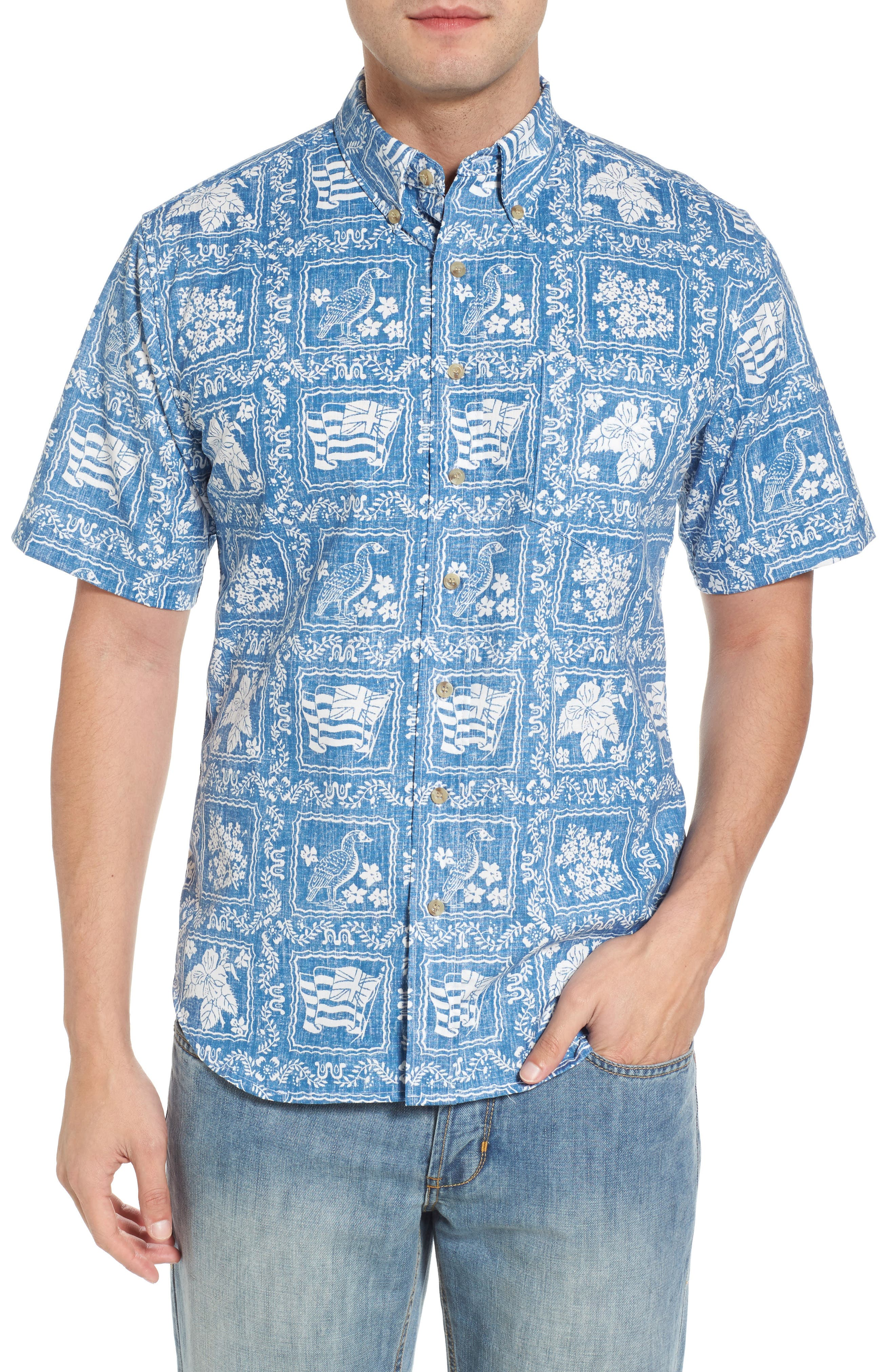 Lahaina Sailor Tailored Fit Sport Shirt,                             Main thumbnail 1, color,