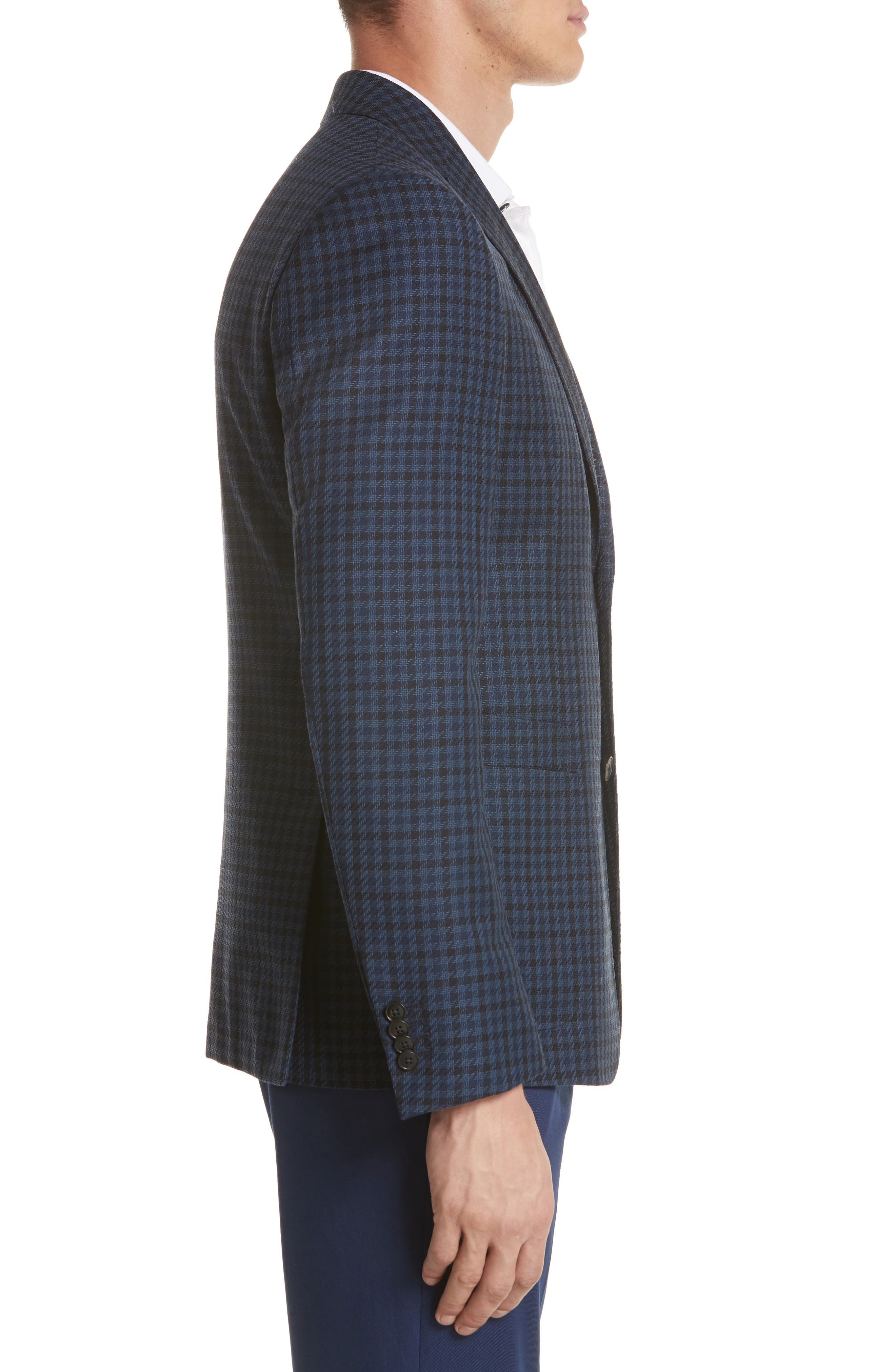Trim Fit Houndstooth Wool Sport Coat,                             Alternate thumbnail 3, color,                             416