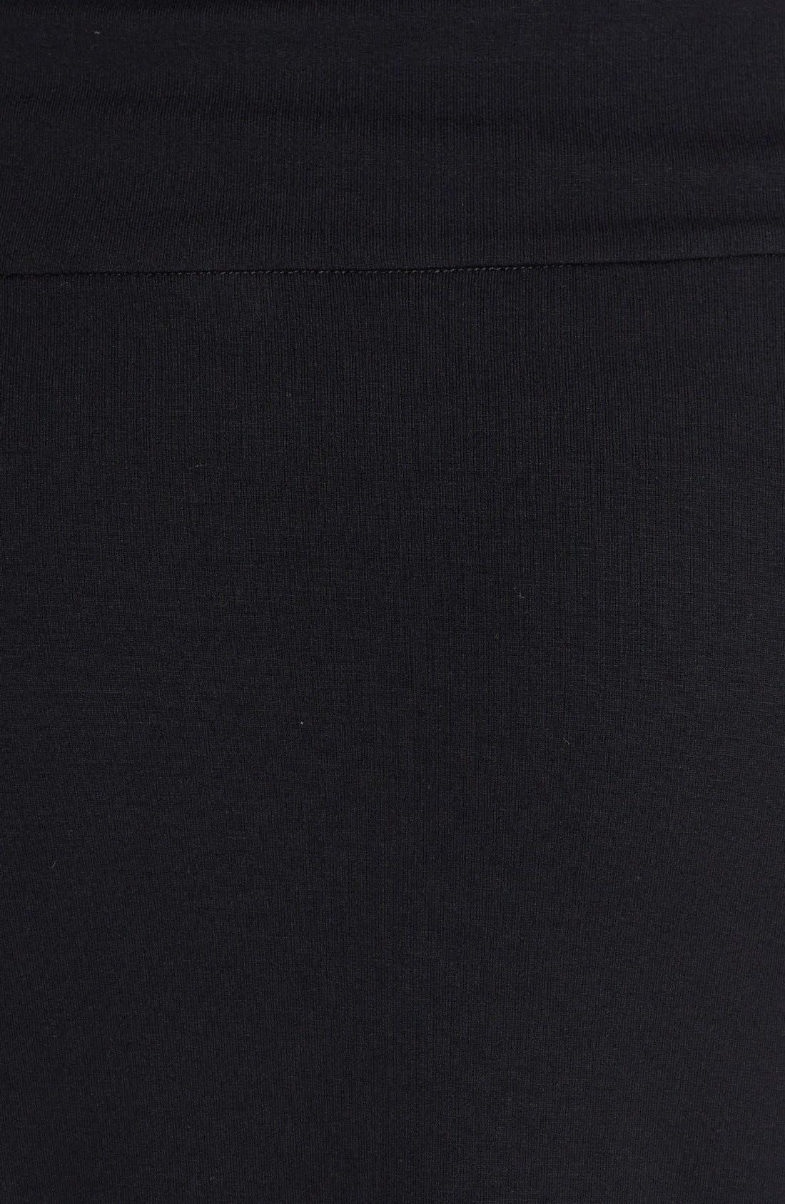 Foldover Waist Straight Skirt,                             Alternate thumbnail 4, color,                             001