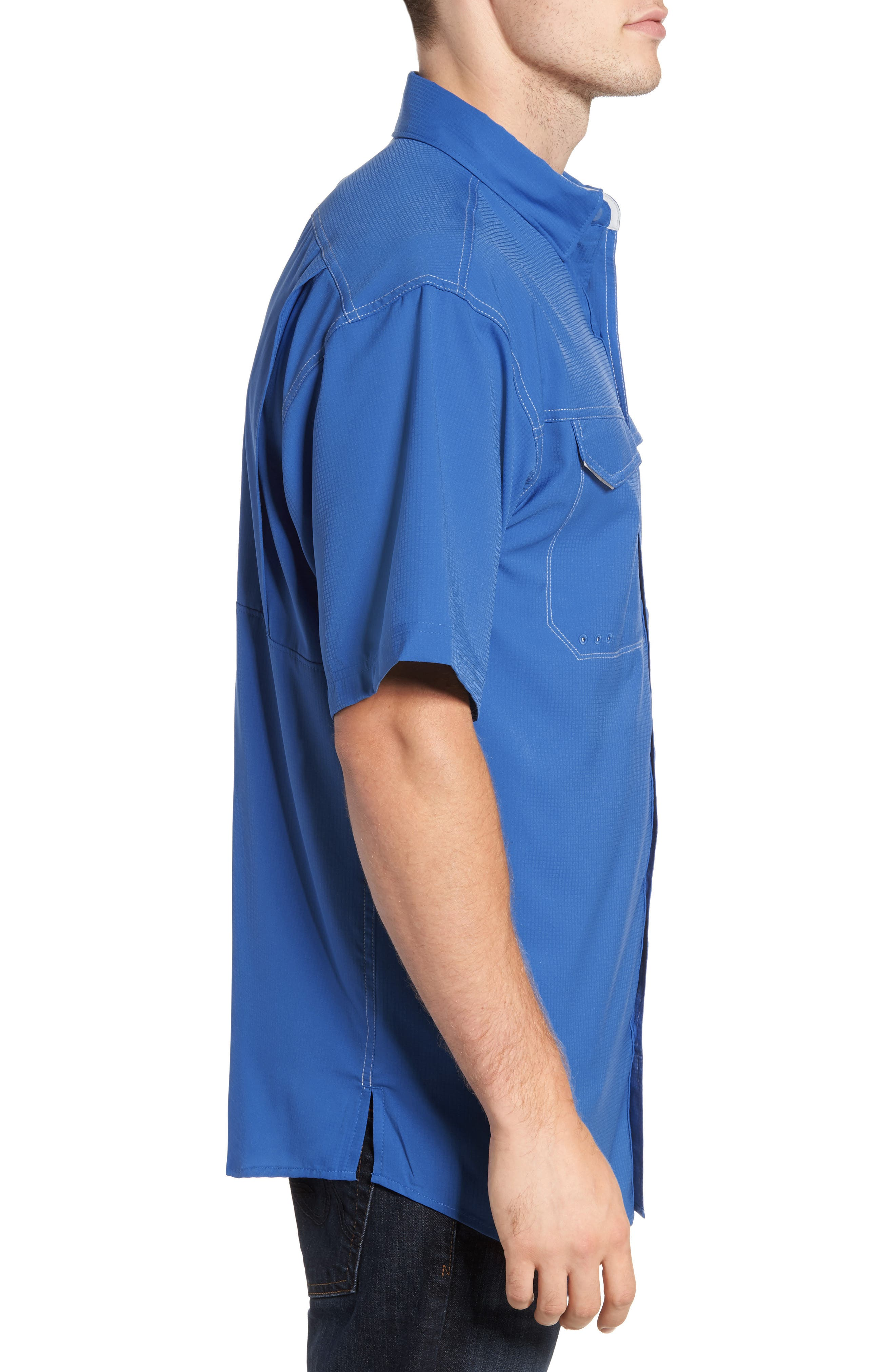 PFG Low Drag Offshore Woven Shirt,                             Alternate thumbnail 13, color,
