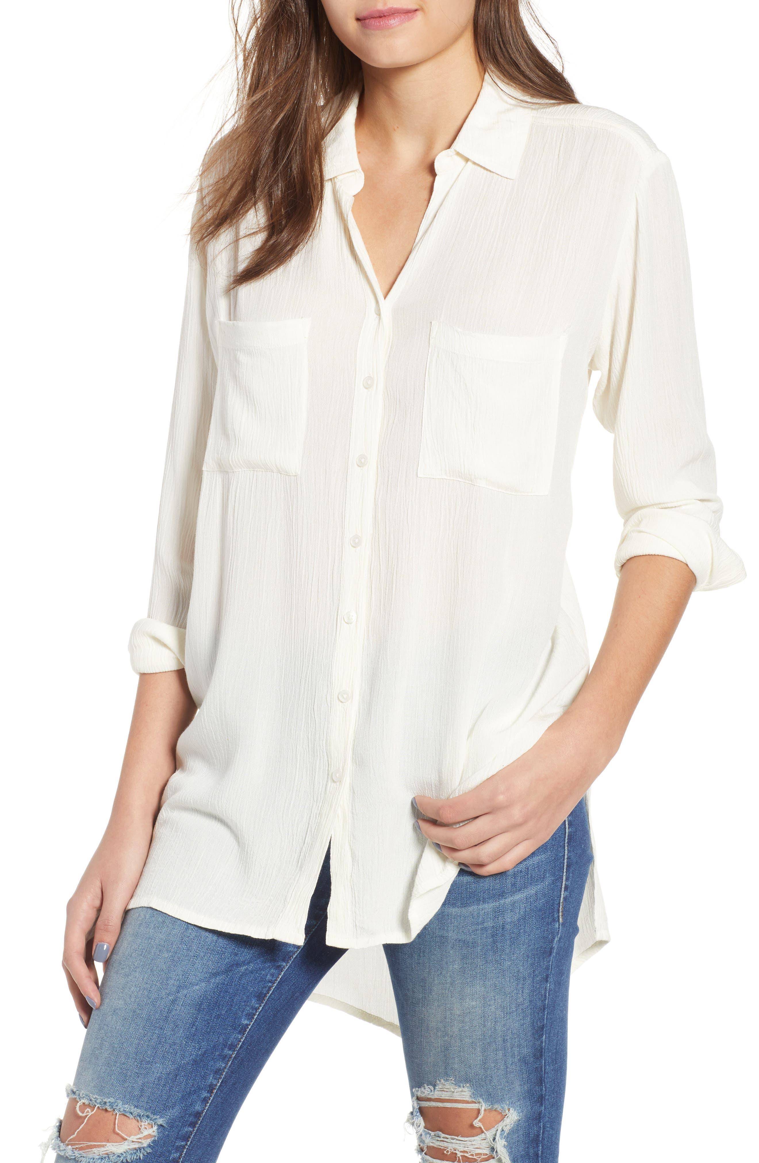 Twirl Longline Shirt,                             Main thumbnail 1, color,                             100
