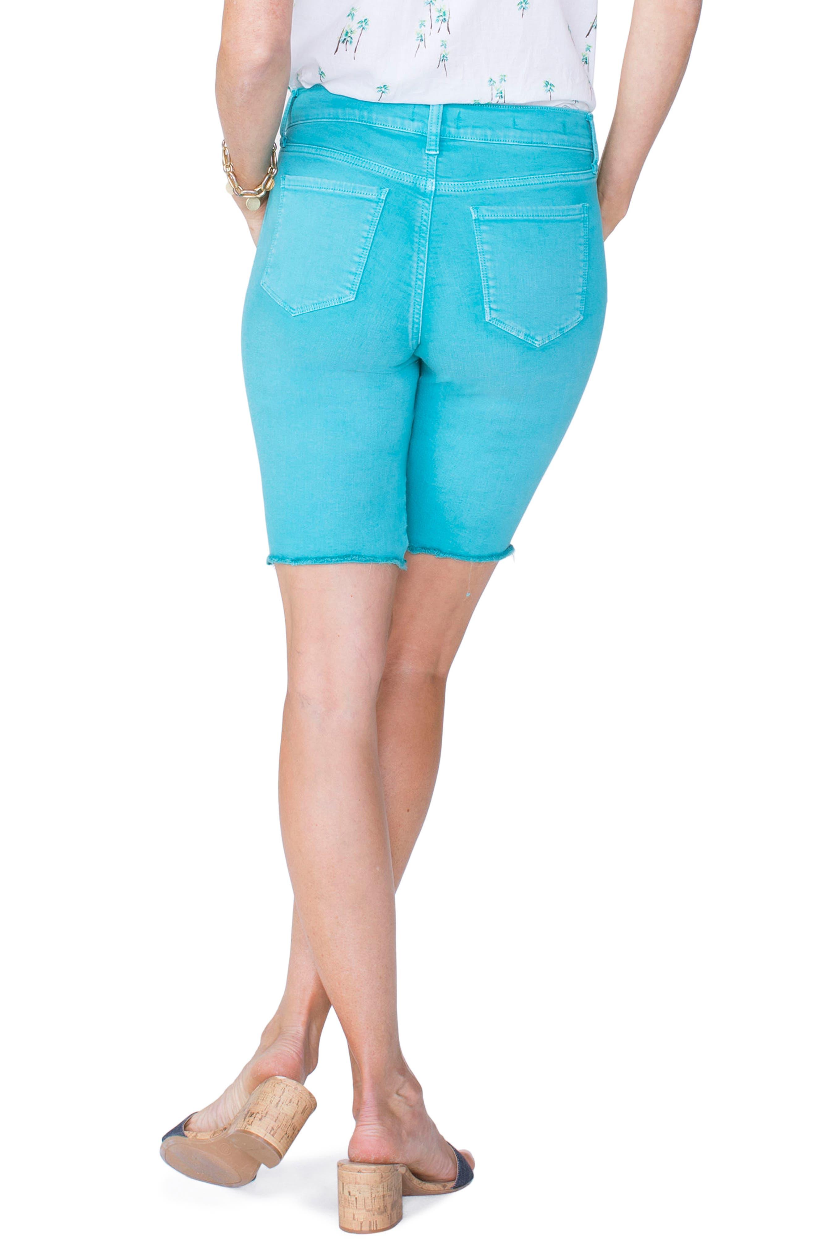 Briella Frayed Hem Bermuda Shorts,                             Alternate thumbnail 8, color,