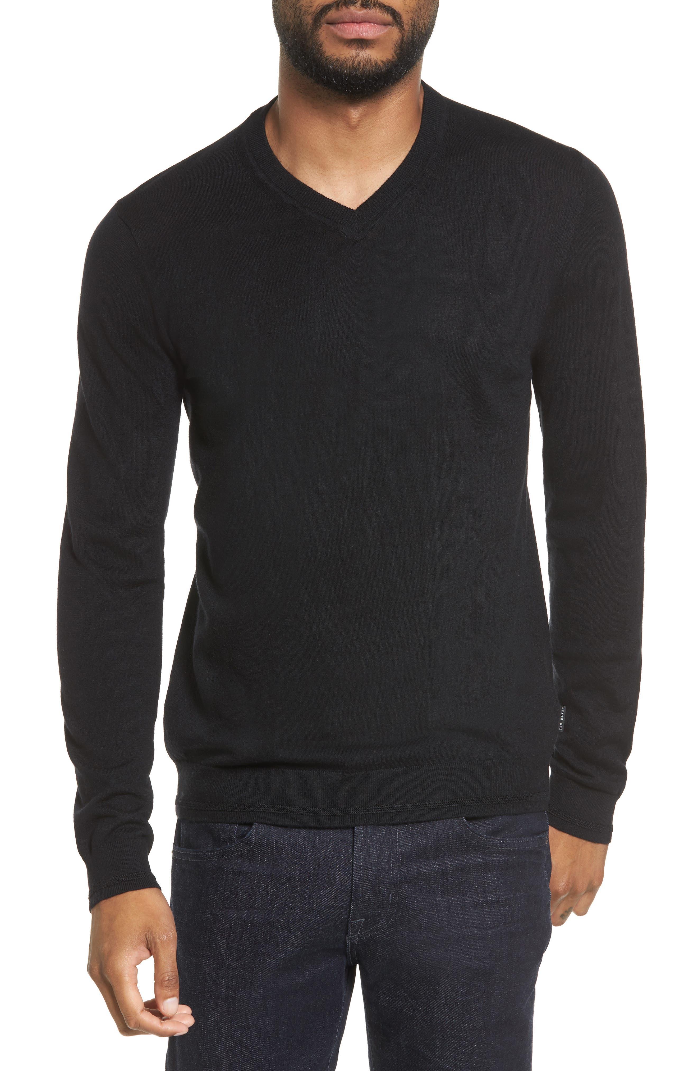 V-Neck Sweater,                             Main thumbnail 1, color,