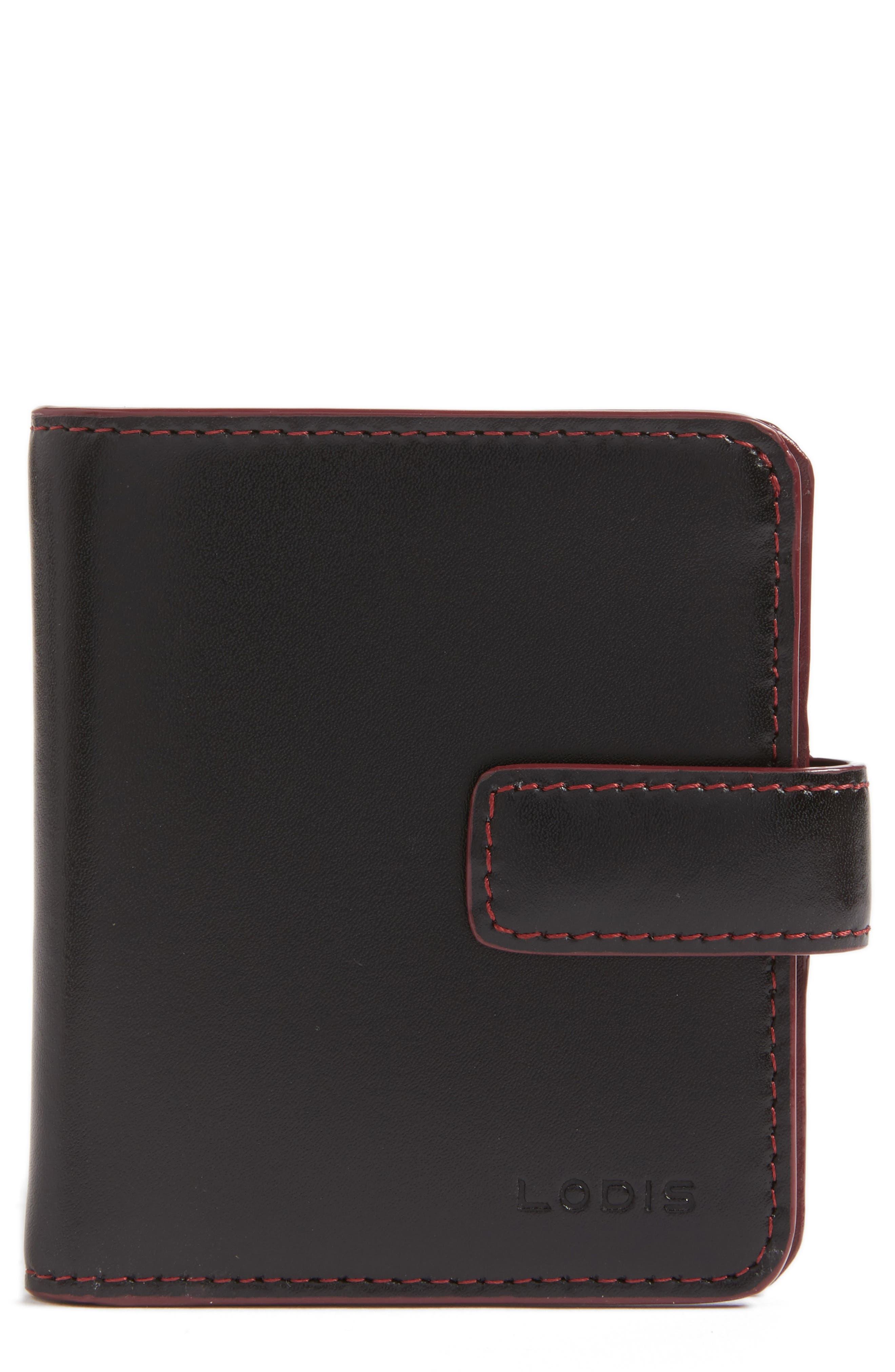 Lodis Petite Audrey RFID Leather Wallet,                         Main,                         color,