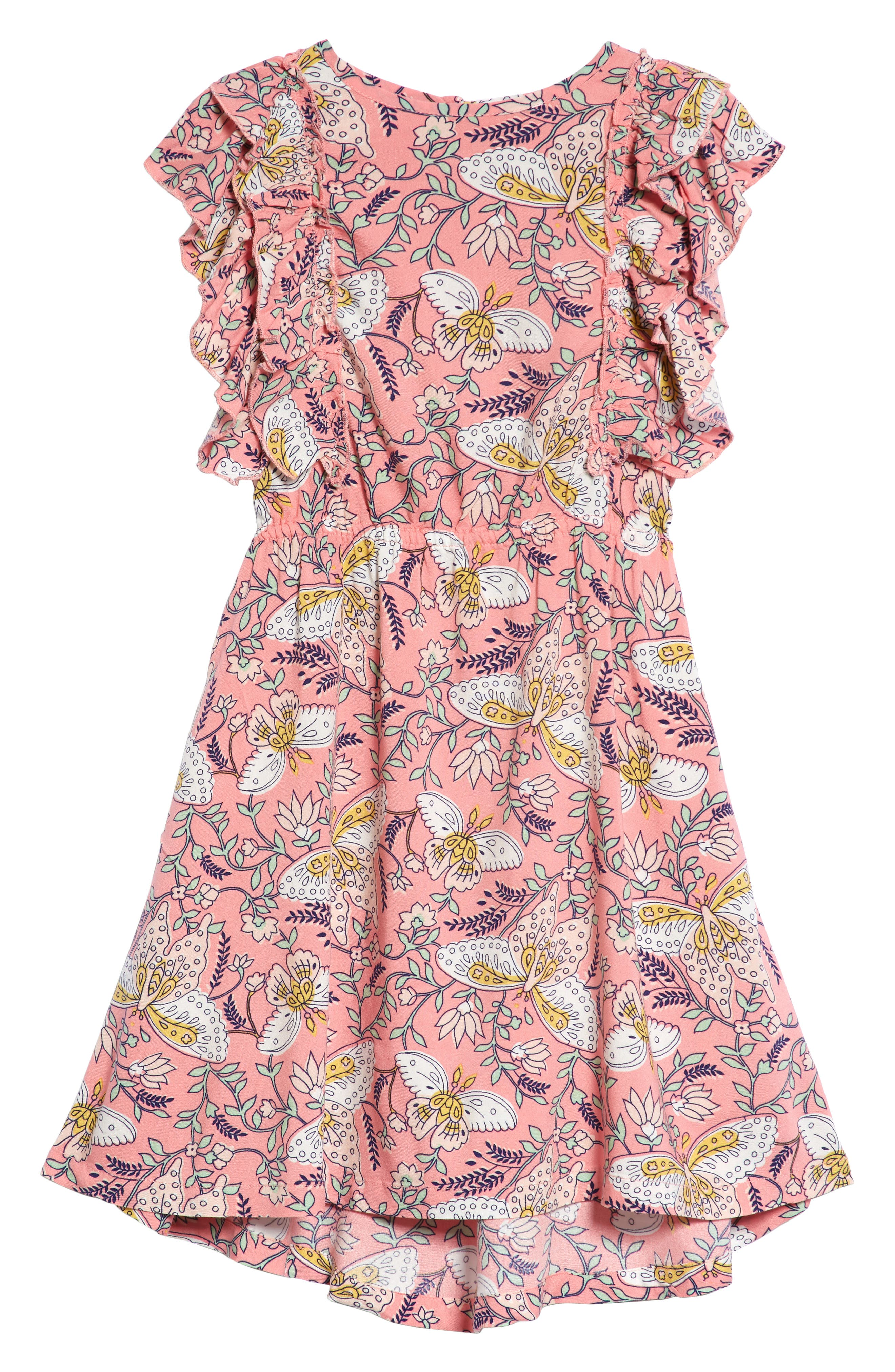Print Ruffle Dress,                             Main thumbnail 1, color,                             660