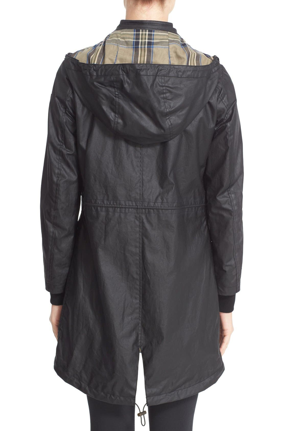 Wembury Waxed Cotton Jacket,                             Alternate thumbnail 2, color,                             001