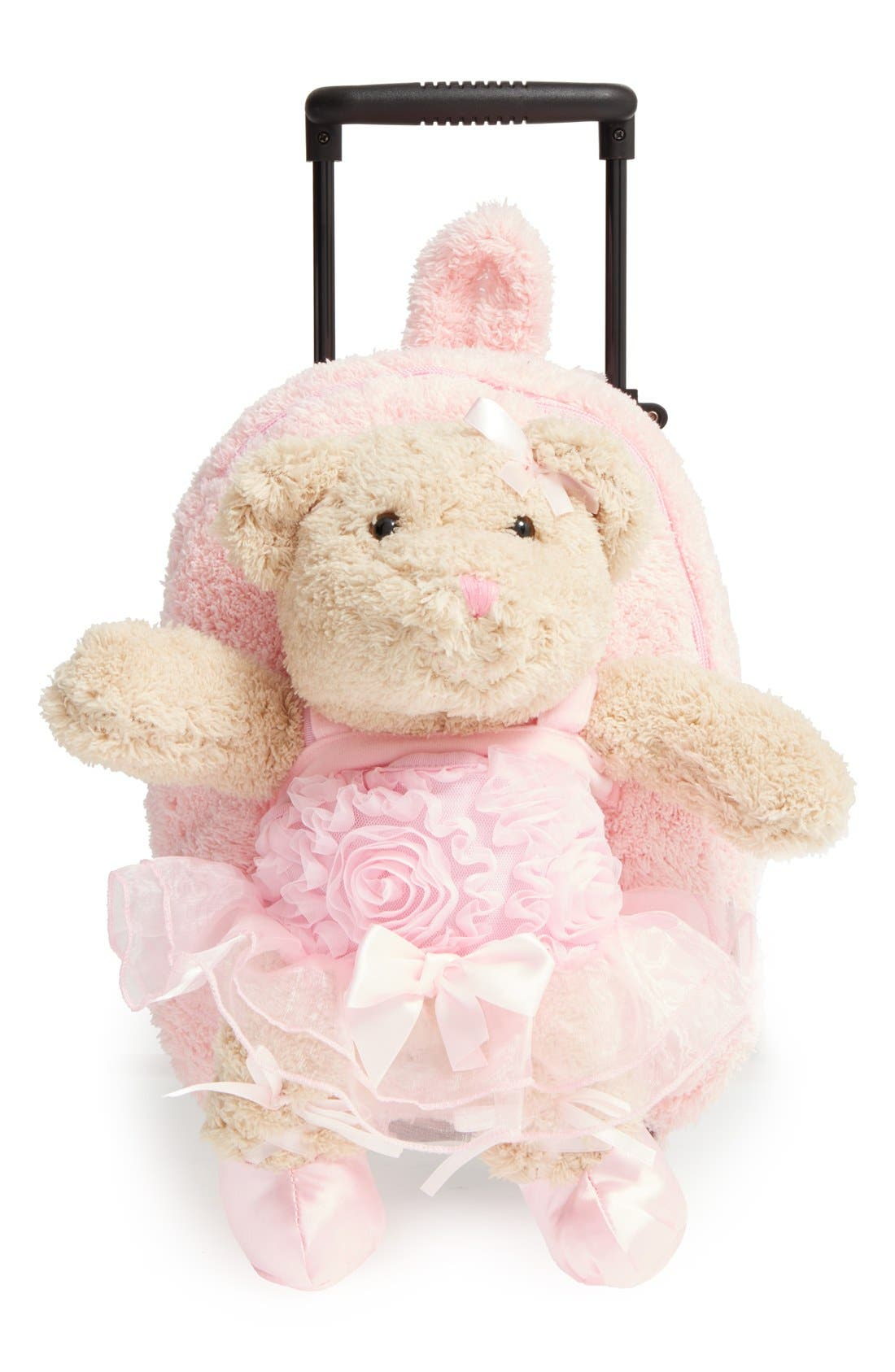'Trolley - Ballet Bear' Rolling Backpack,                             Main thumbnail 1, color,                             PINK
