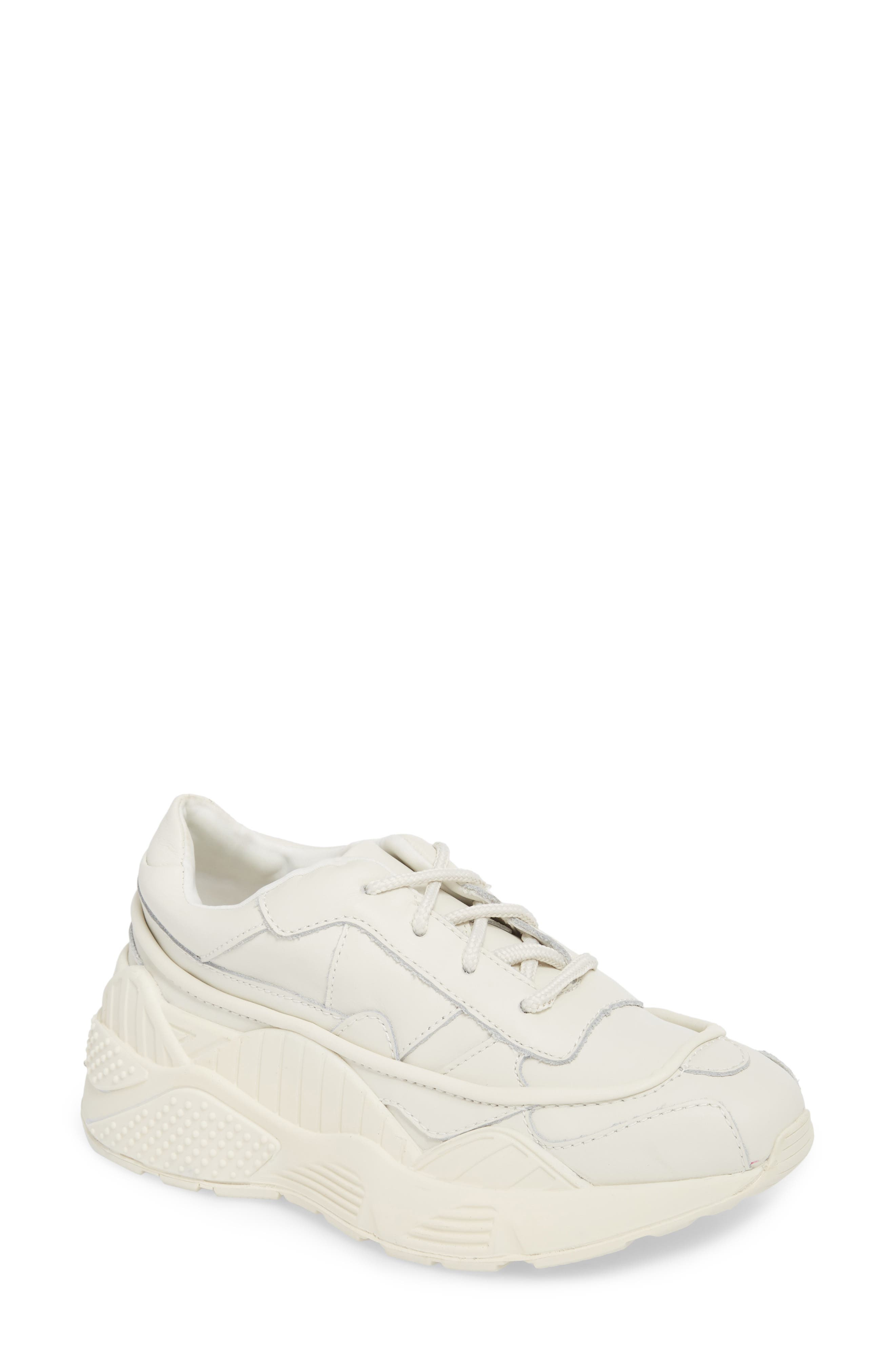 HMDI Platform Sneaker,                             Main thumbnail 1, color,                             WHITE LEATHER