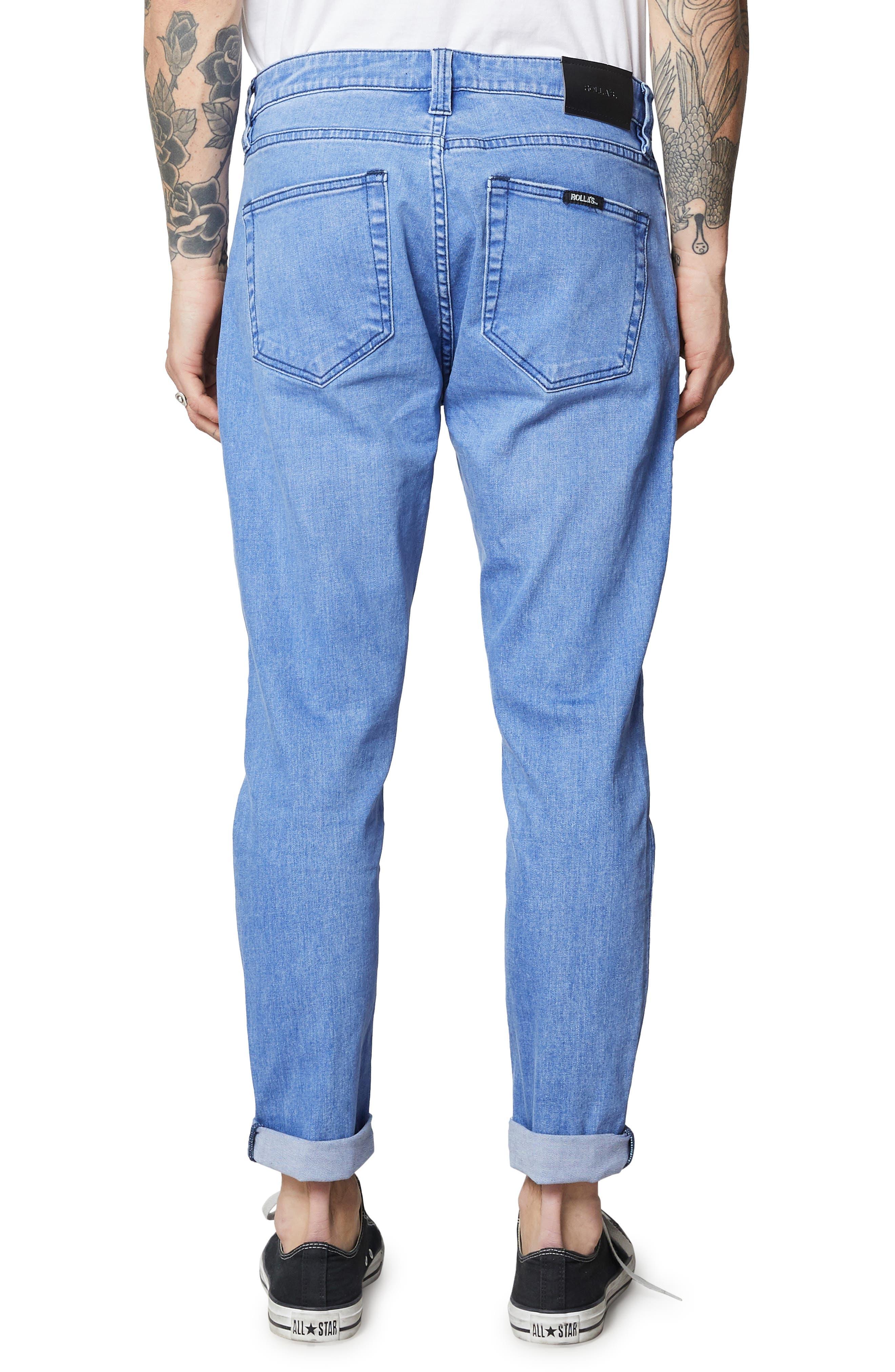 Rollies Slim Fit Jeans,                             Alternate thumbnail 2, color,                             BOLD BLUE