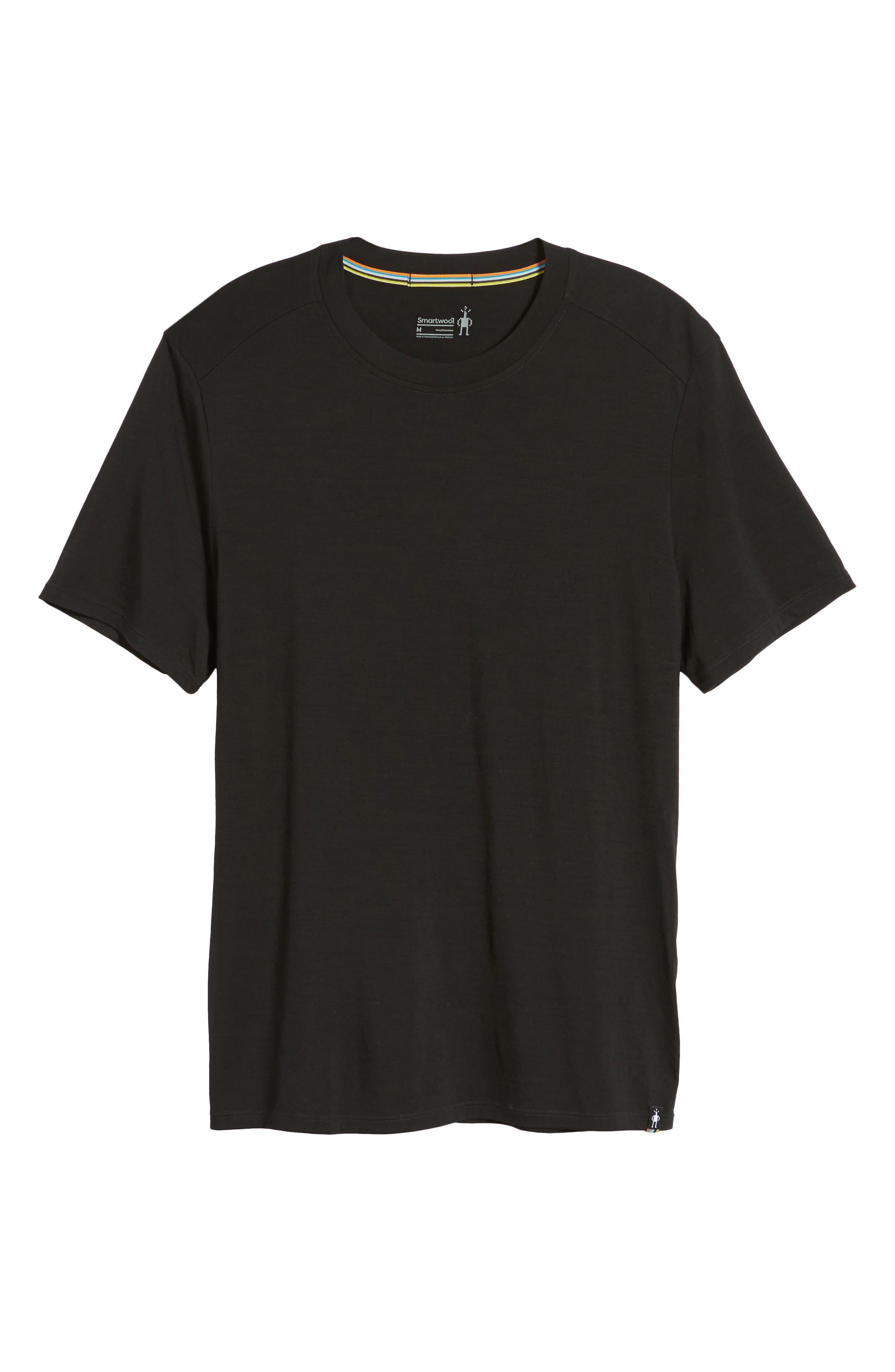 Merino 150 Wool Blend T-Shirt,                             Alternate thumbnail 6, color,                             001