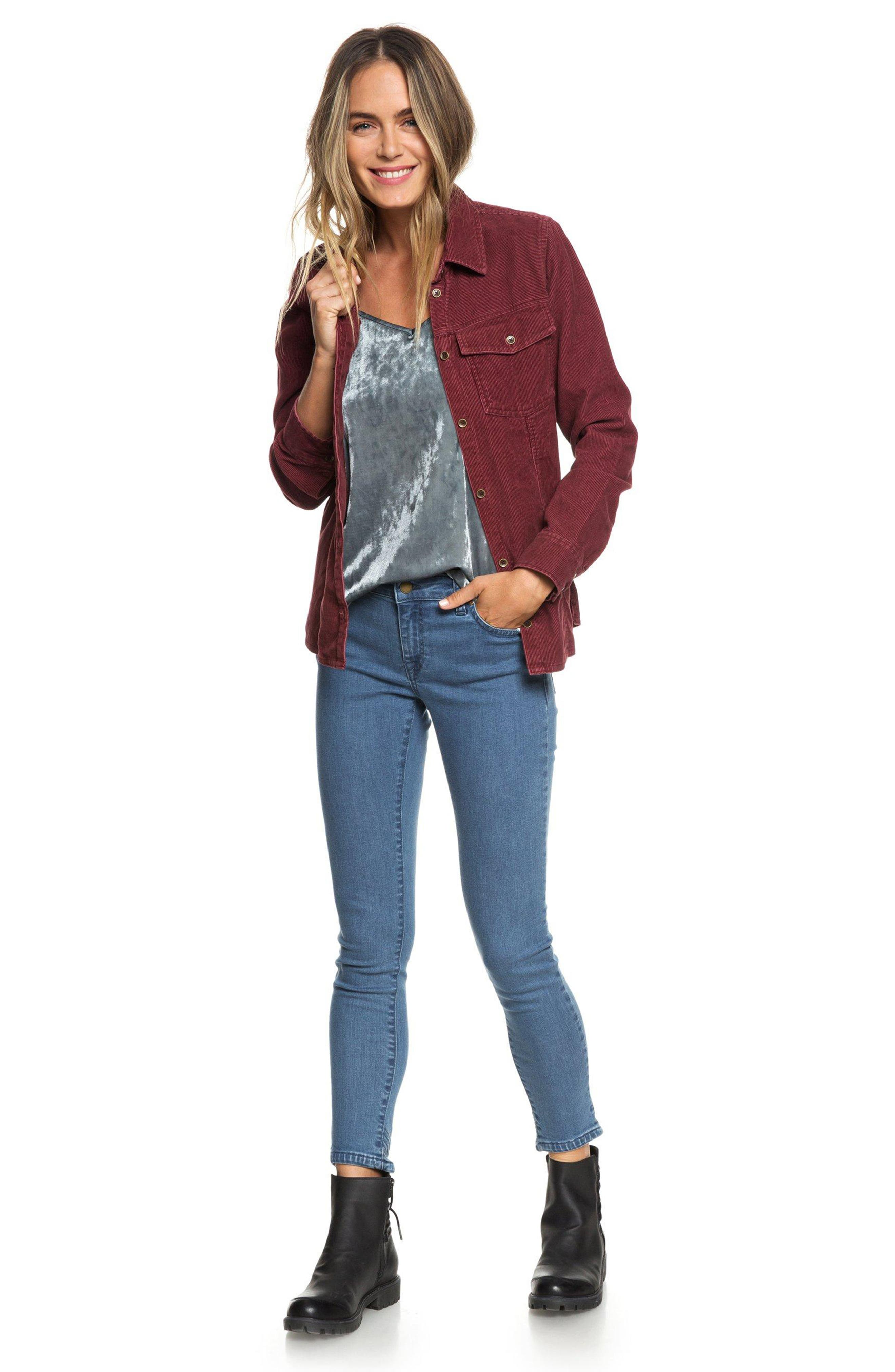 The Edge Of Wildness Corduroy Shirt,                             Alternate thumbnail 6, color,                             OXBLOOD RED