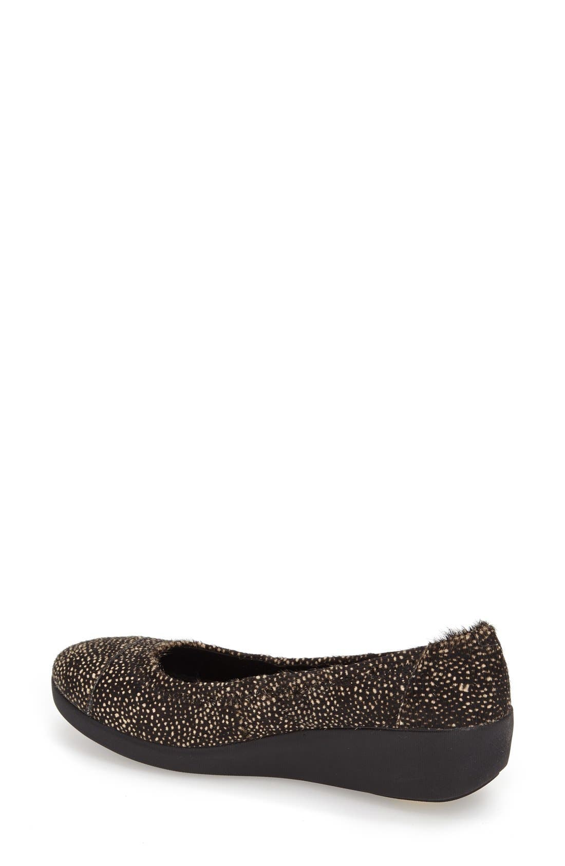 FITFLOP,                              'F-Pop' Leather Ballerina Flat,                             Alternate thumbnail 4, color,                             017