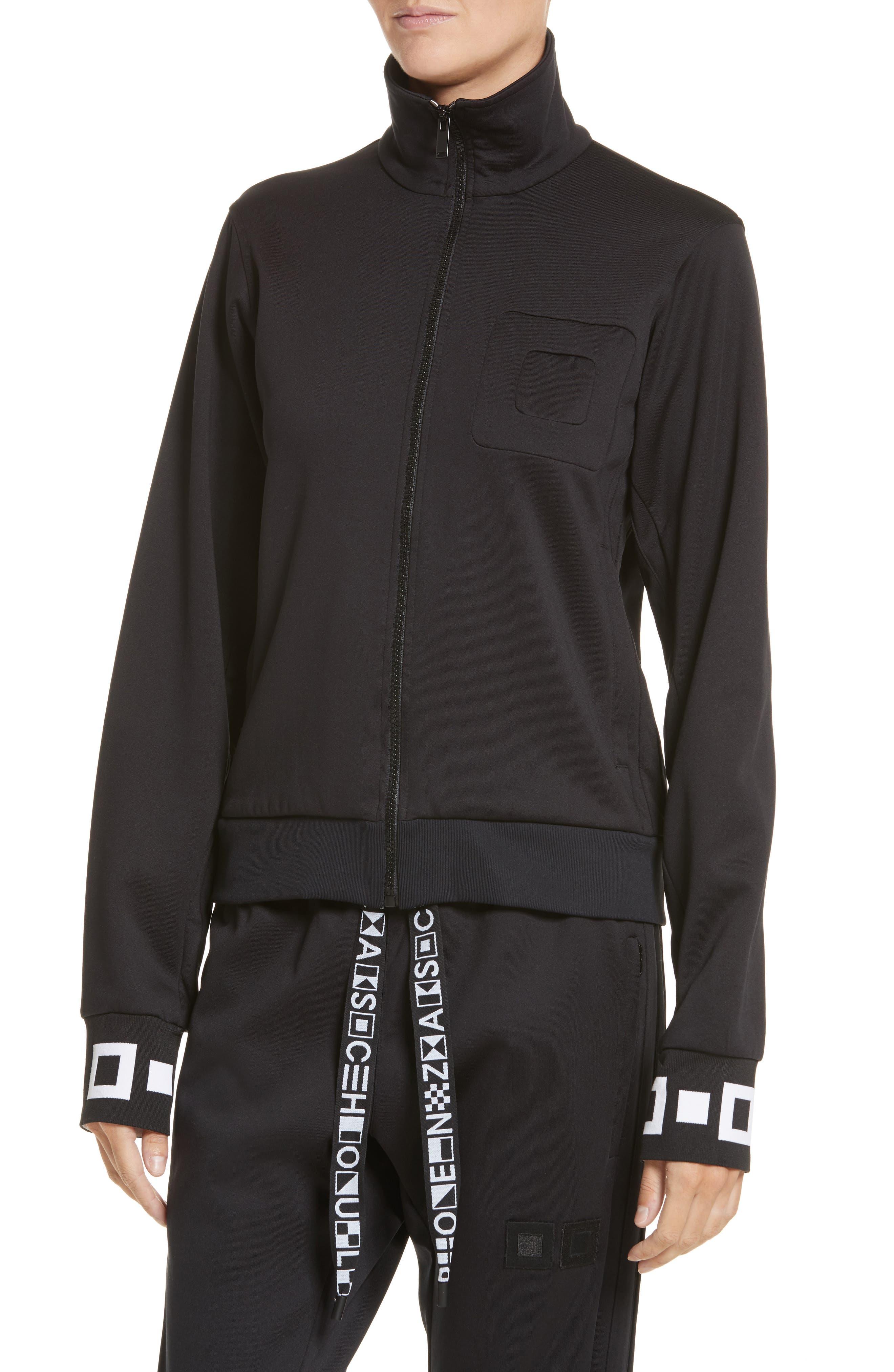 PSWL Jersey Track Jacket,                             Alternate thumbnail 4, color,                             001