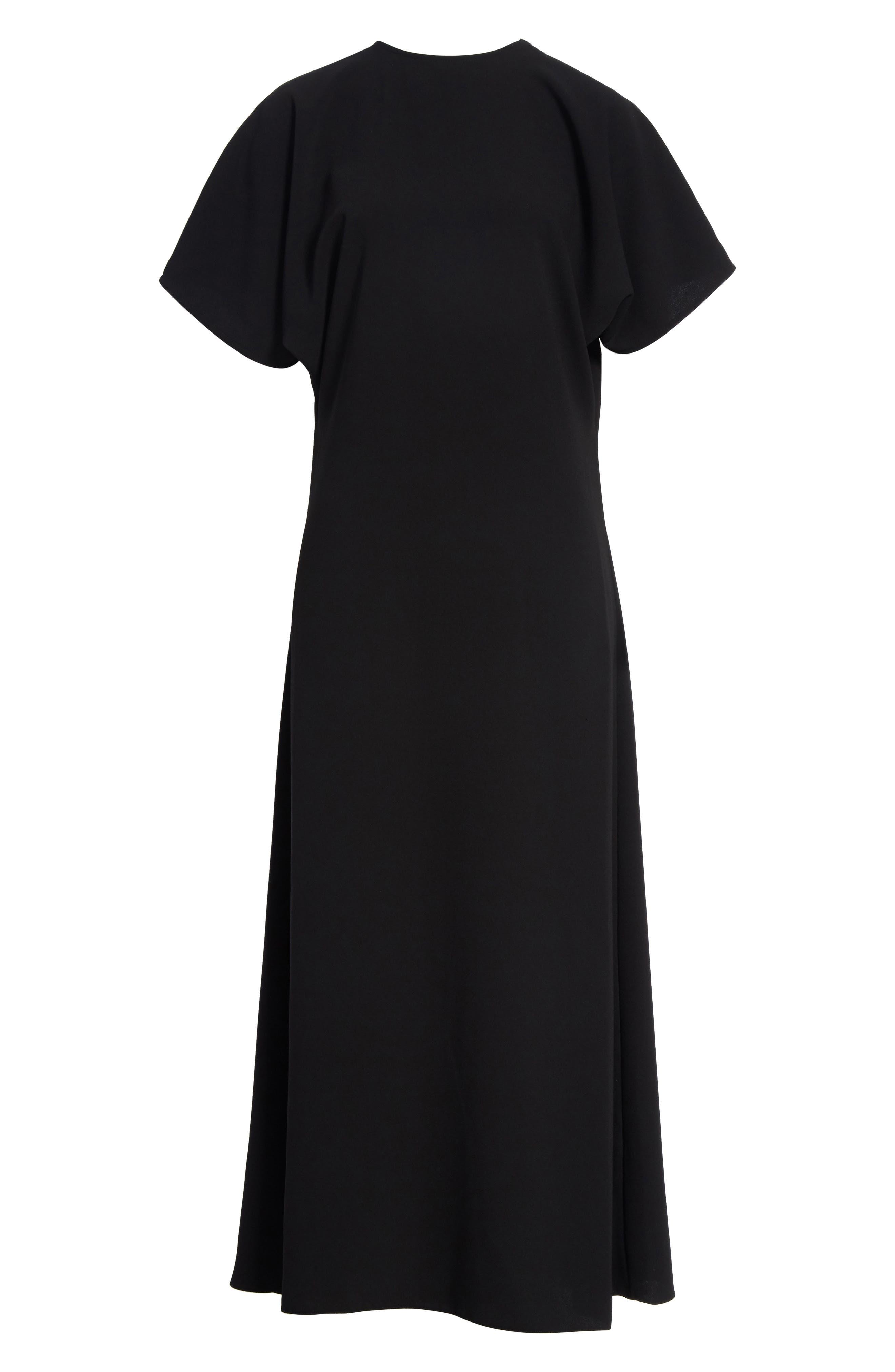 J.W.ANDERSON Cap Sleeve Maxi Dress,                             Alternate thumbnail 6, color,                             001