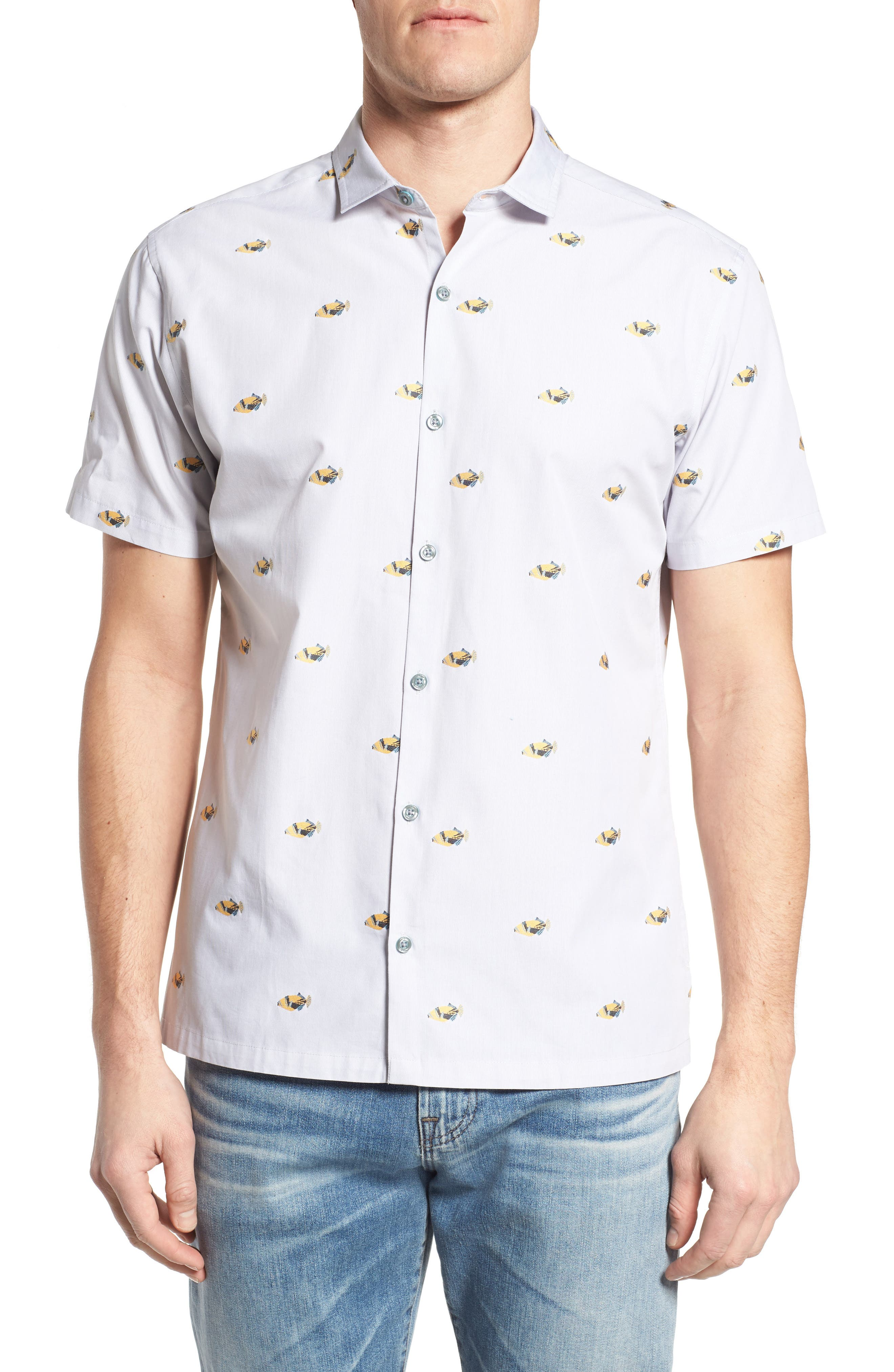 1Humu 2Humu Embroidered Sport Shirt,                         Main,                         color,